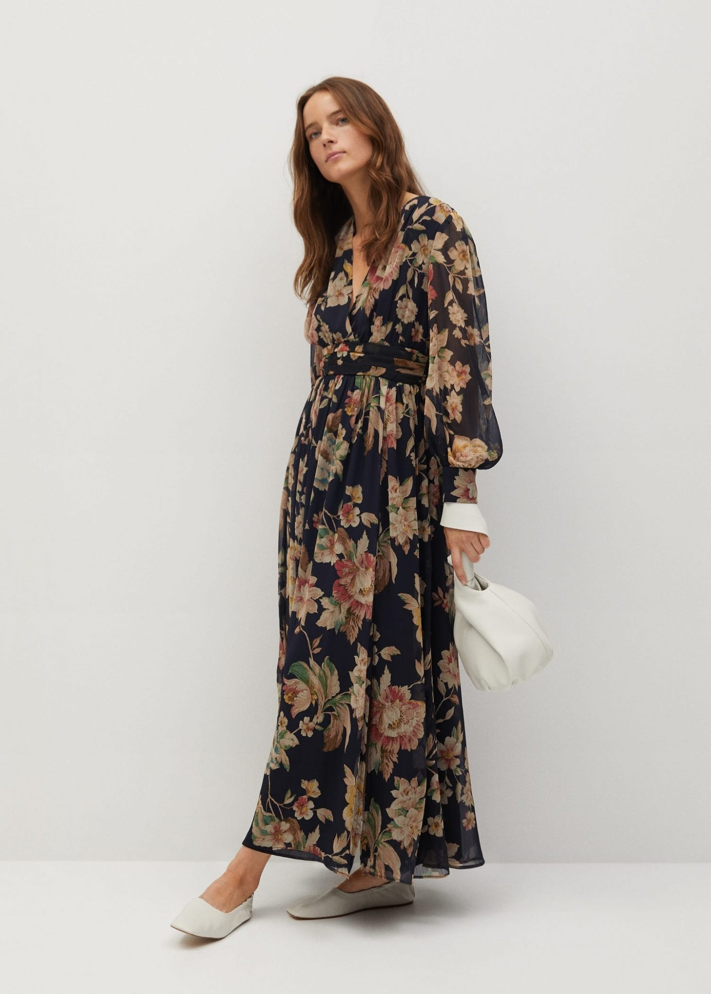 MANGO Printed Long Dress