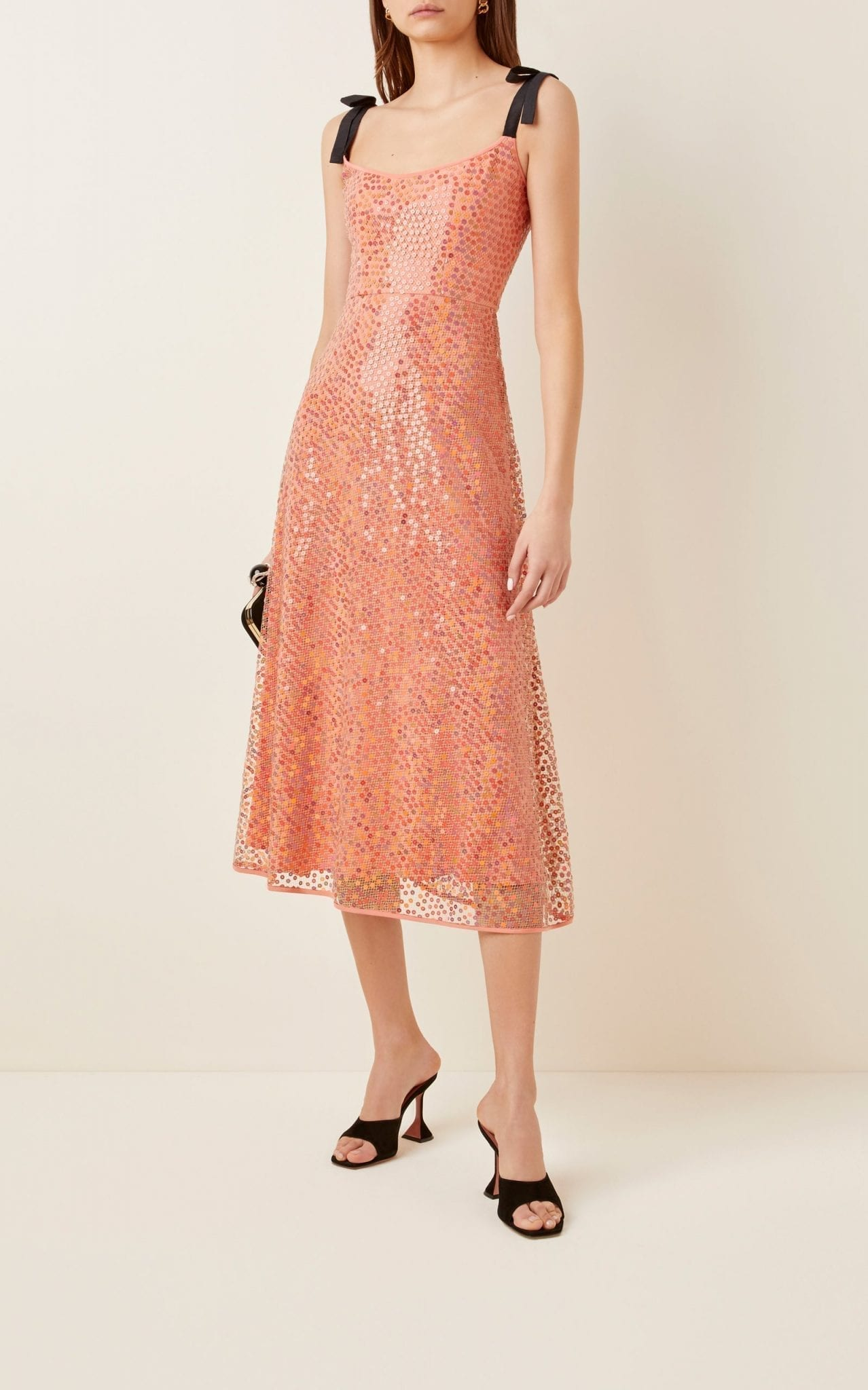 MARKARIAN Mars Sequined Chiffon Midi Dress