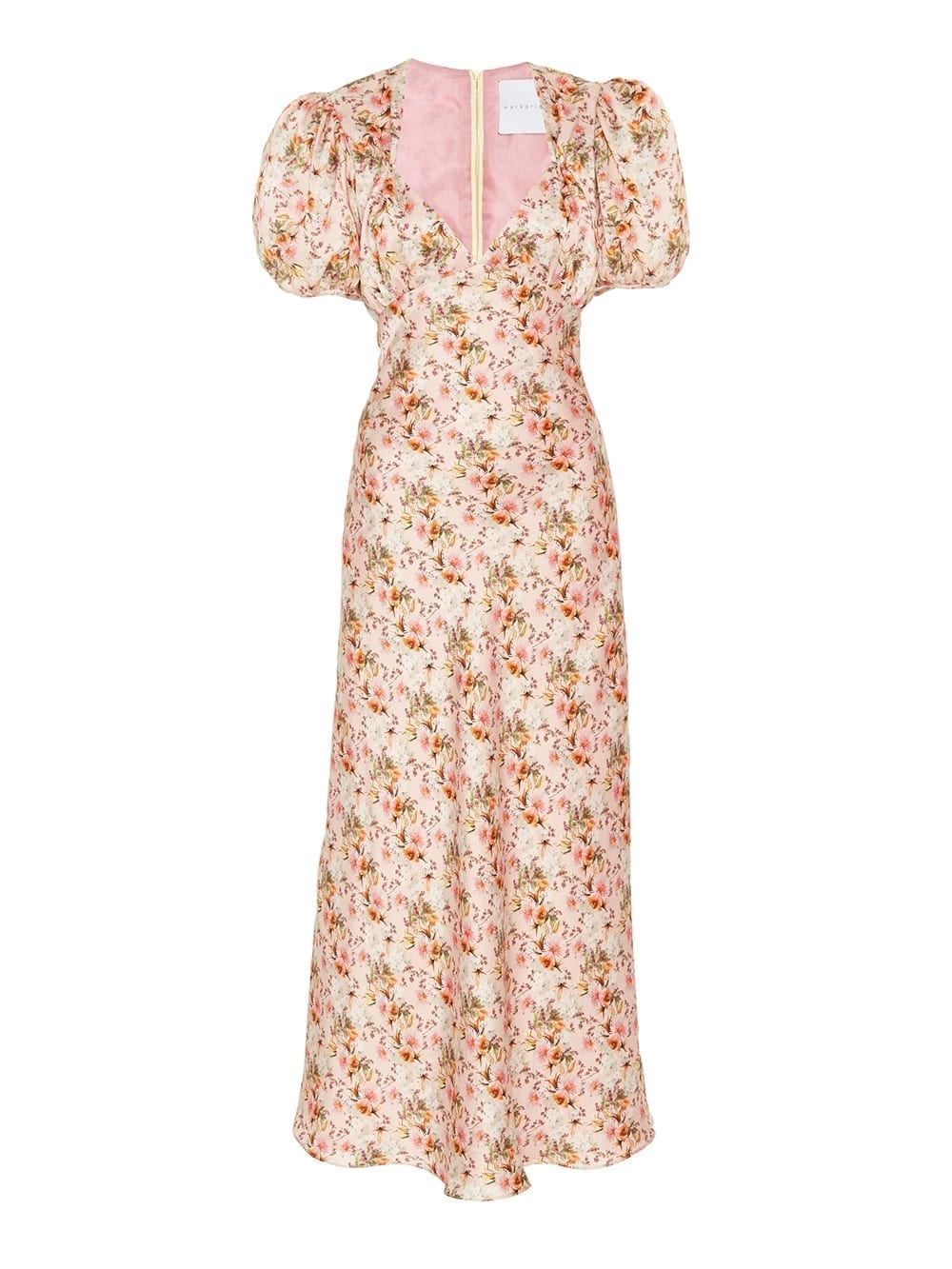 MARKARIAN Titian Floral Silk Dress