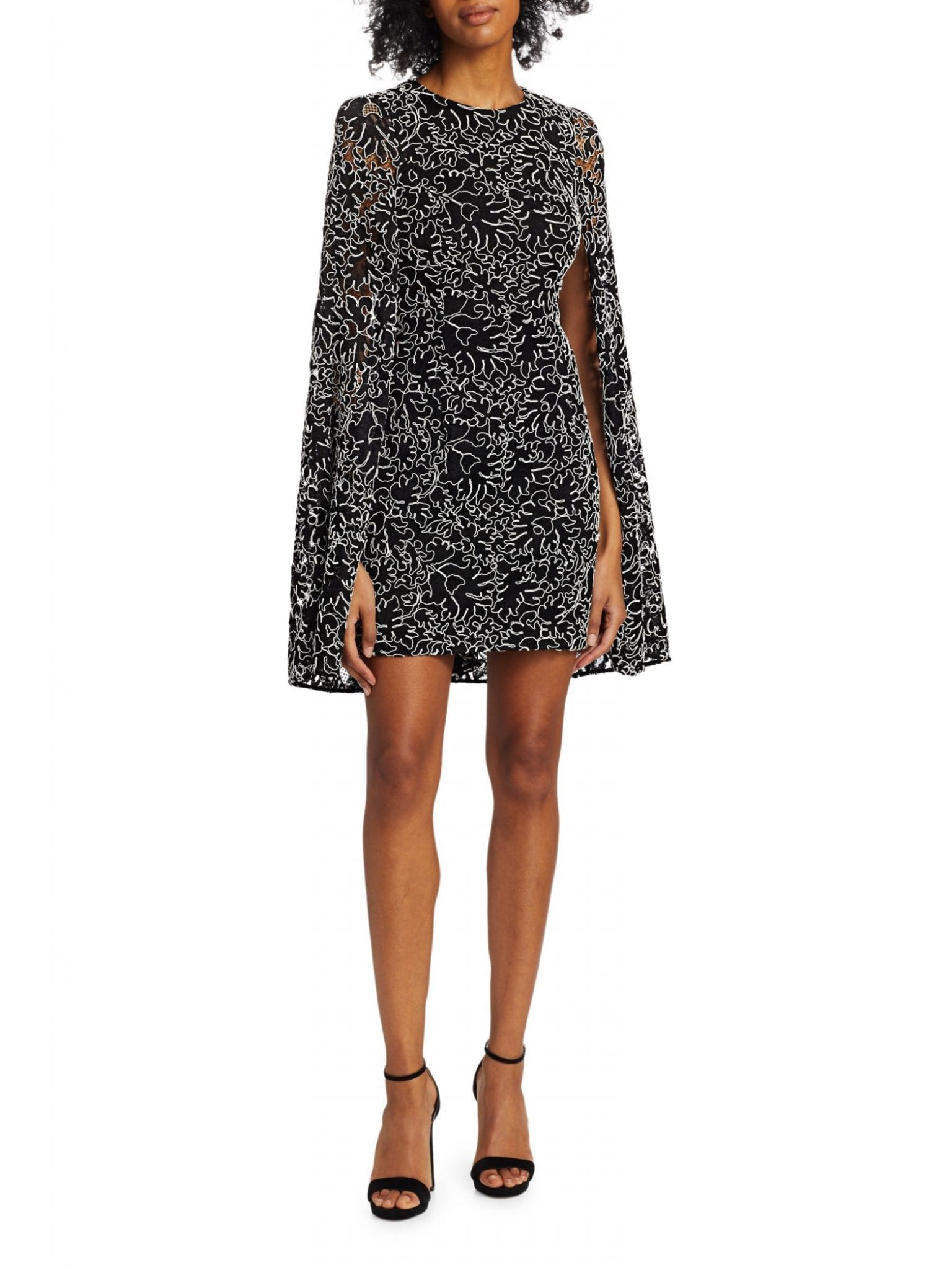 MICHAEL KORS COLLECTION Corded Lace Cape Dress
