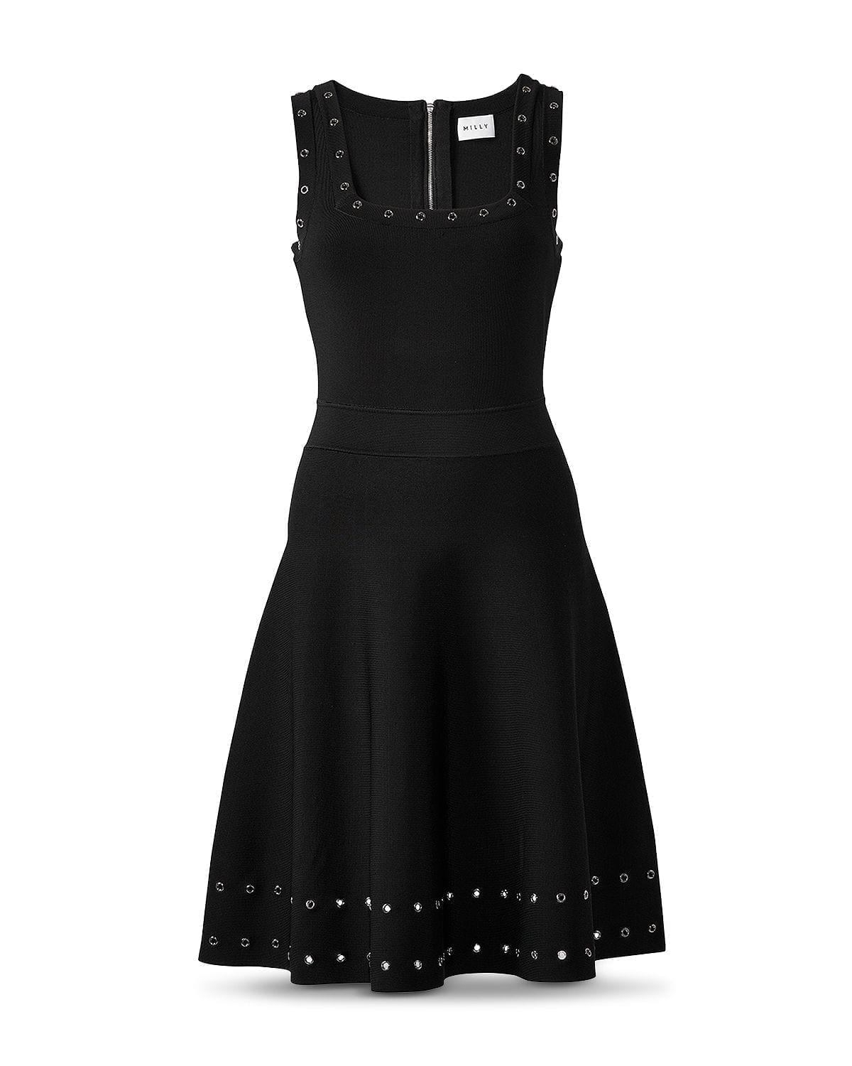 MILLY Grommet Tiered Dress