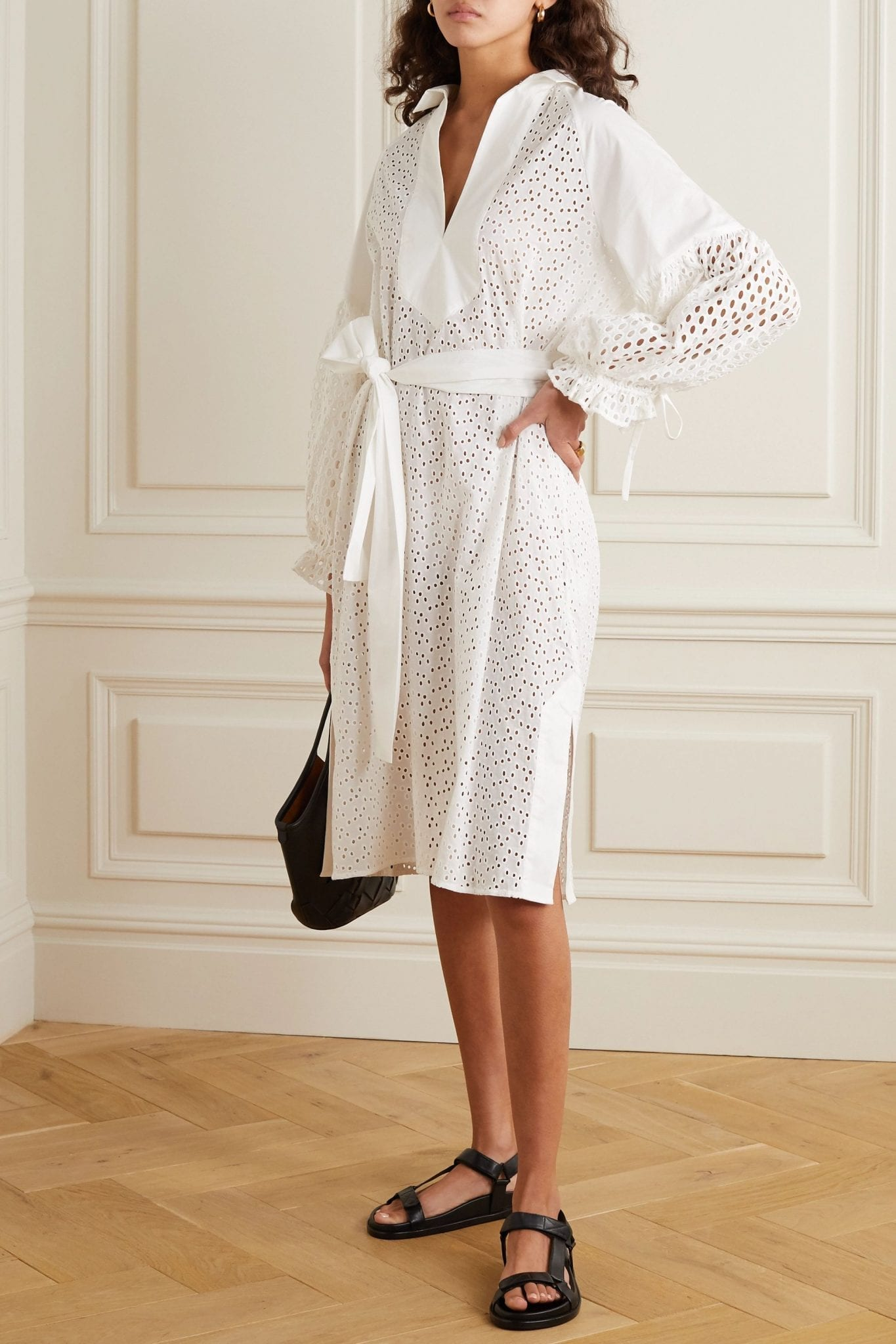 MUNTHE Belted Broderie Anglaise Cotton Dress