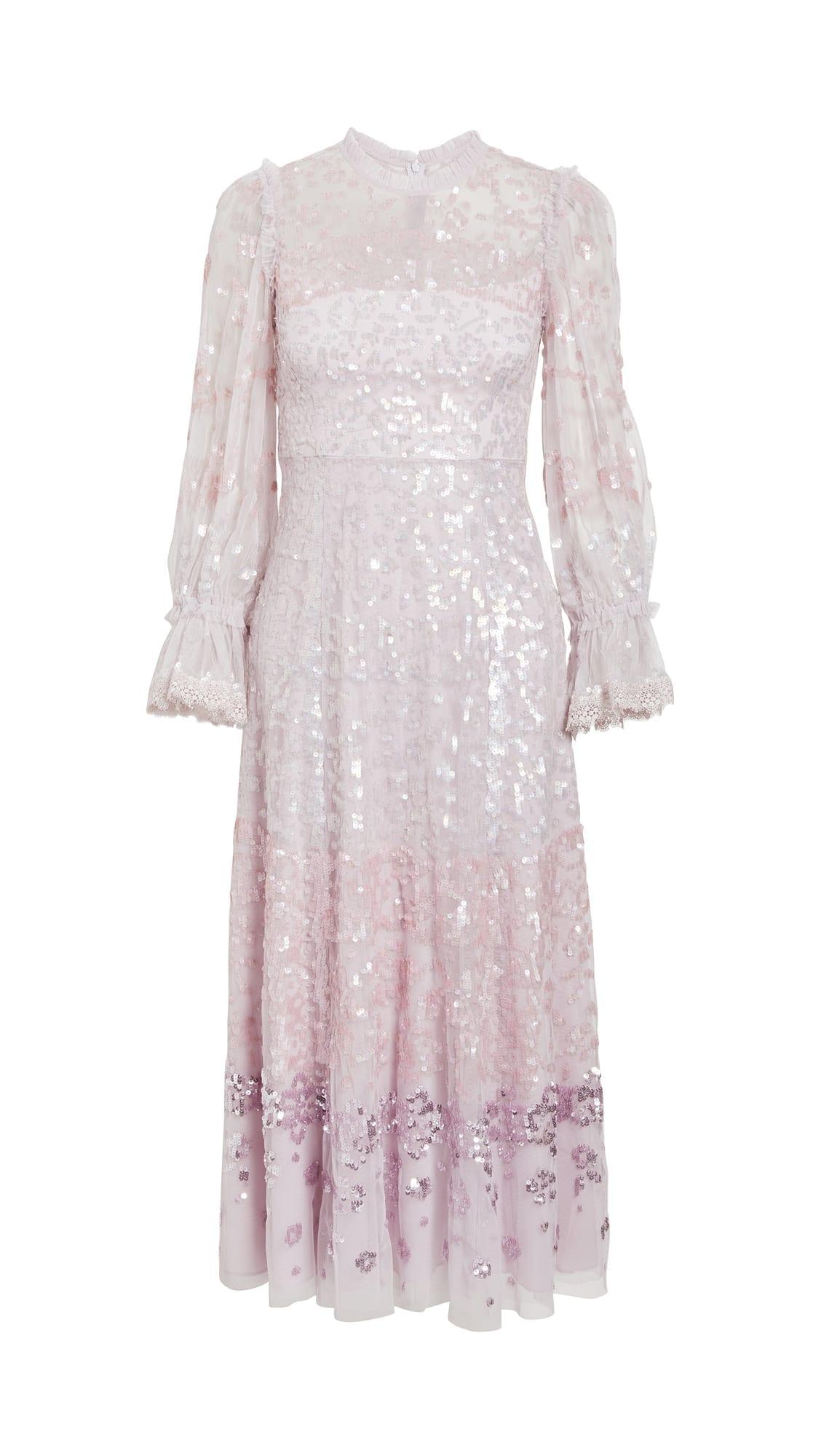 NEEDLE & THREAD Patchwork Sequin Ballerina Dress
