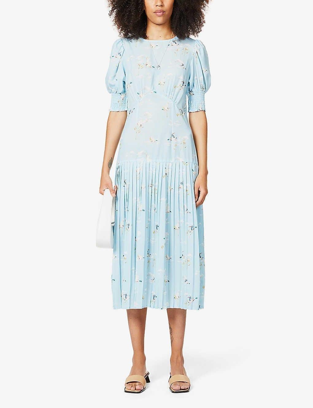 NEVER FULLY DRESSED Dakota Satin Midi Dress