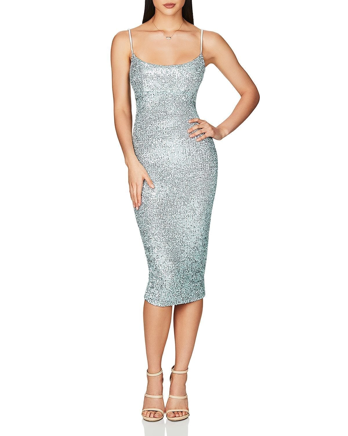 NOOKIE Lovers Sequined Midi Dress