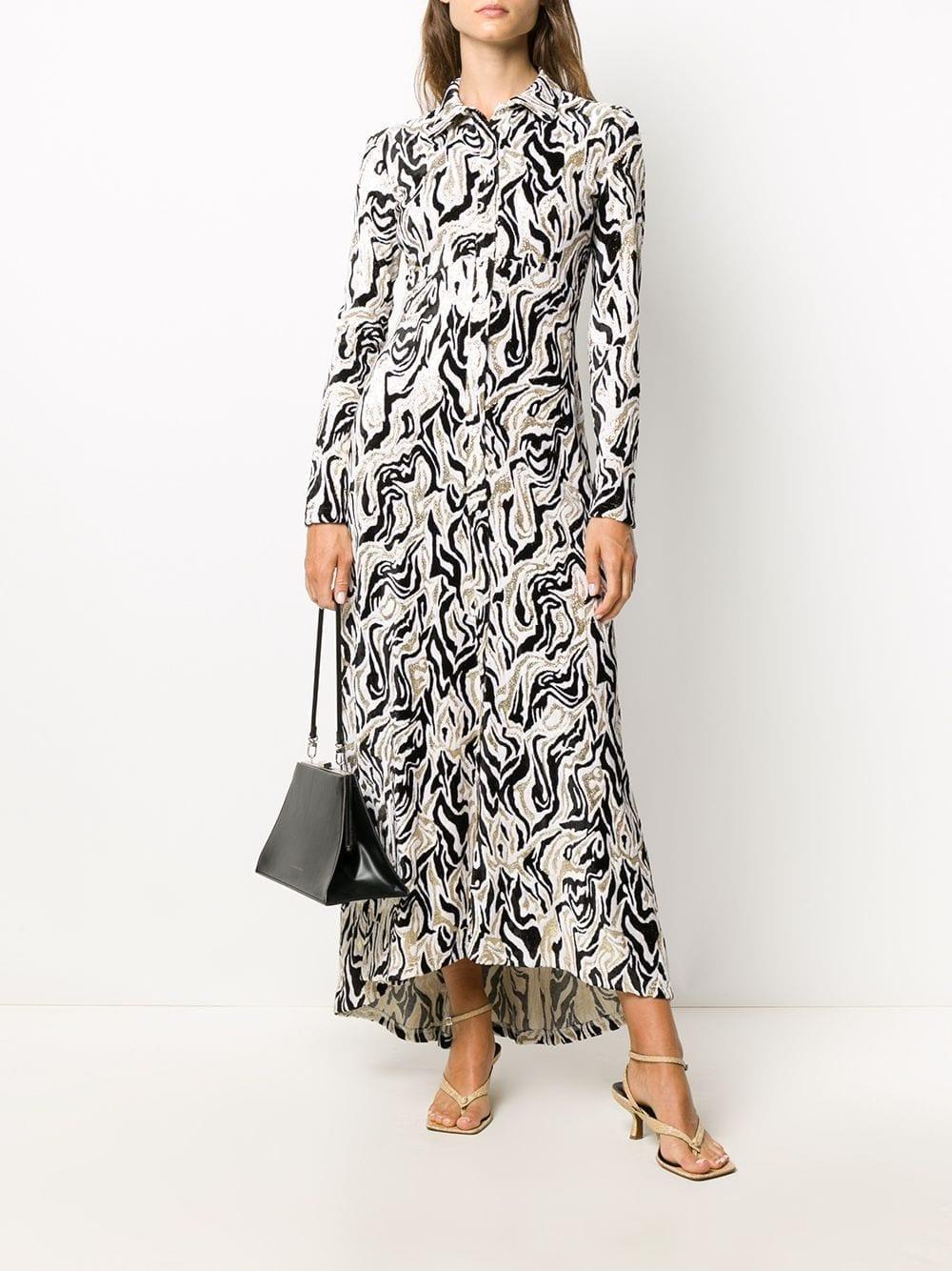 PACO RABANNE Abstract-print Velvet Dress