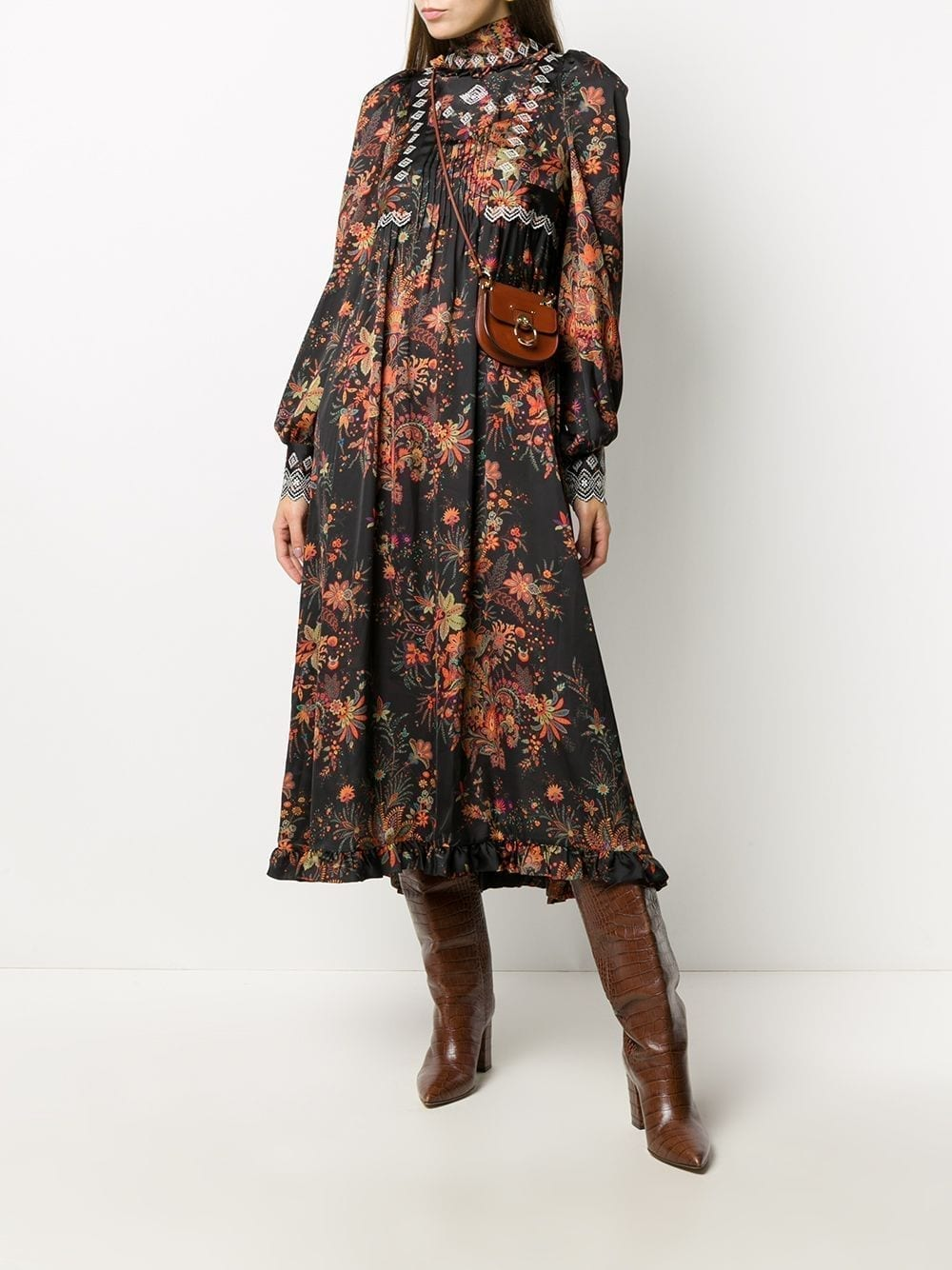 PACO RABANNE Paisley-print High Neck Dress