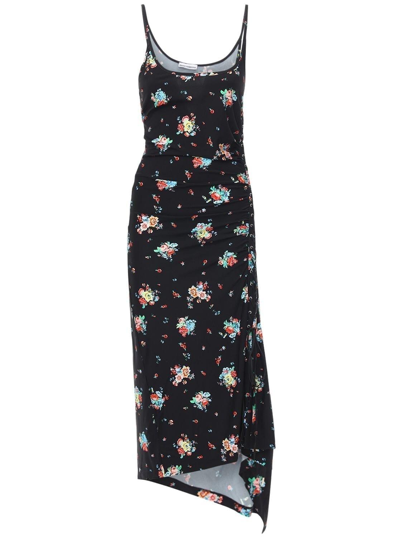 PACO RABANNE Printed Sleeveless Viscose Long Dress
