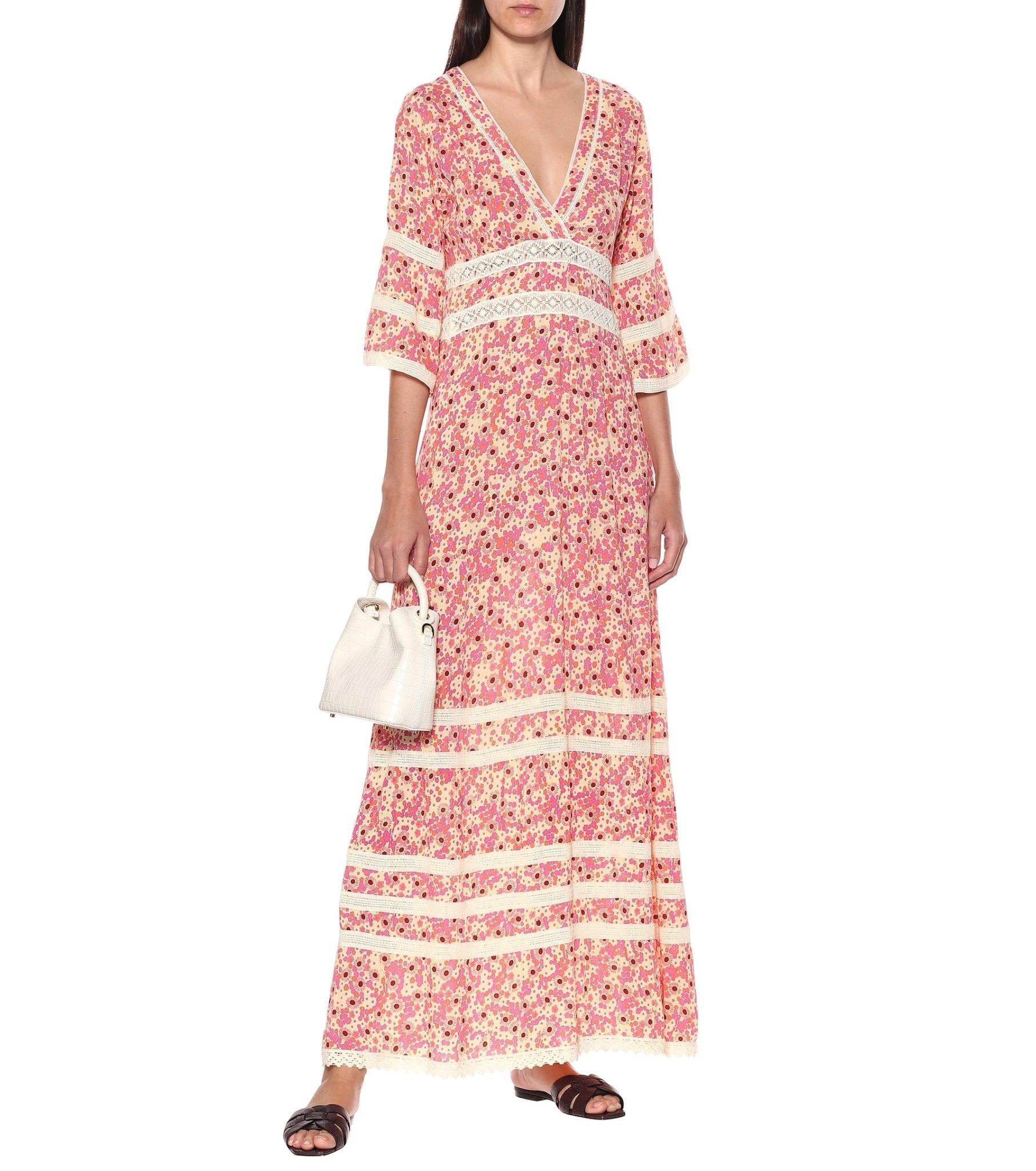 POUPETTE ST BARTH Capri Floral Crêpe Dress