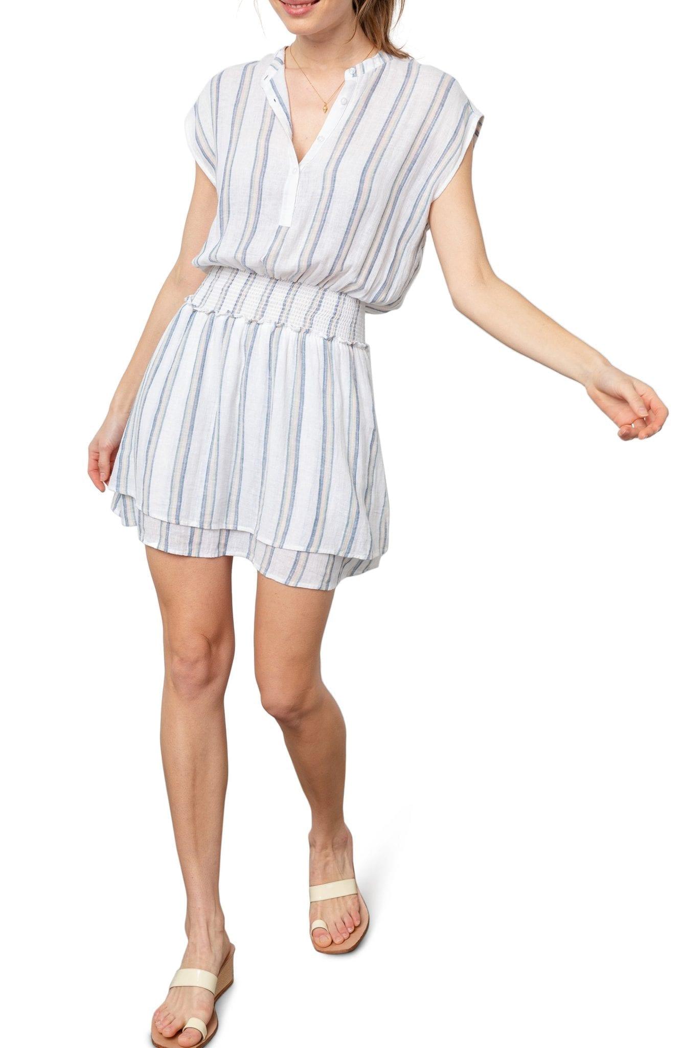RAILS Angelina Smocked Waist Mini Dress