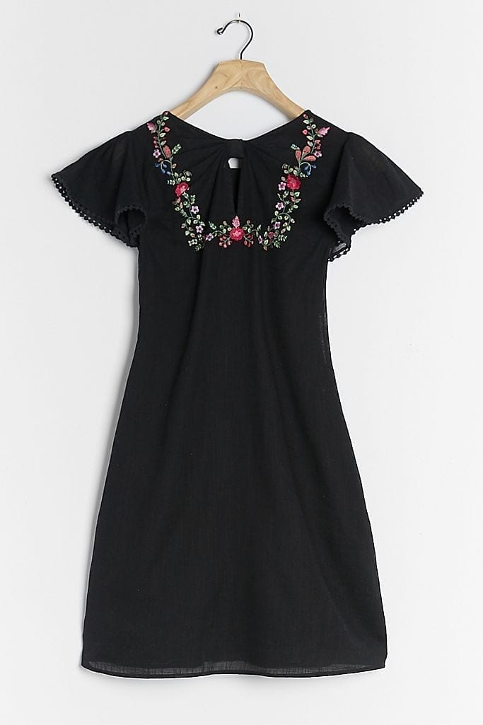 RANNA GILL Georgine Embroidered Mini Dress