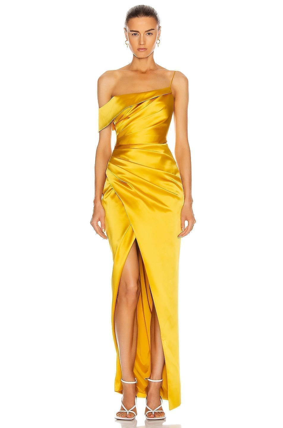 RASARIO Asymmetric Draped Gown