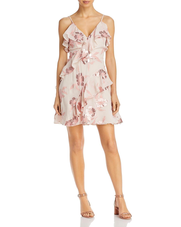 REBECCA TAYLOR Fleur Faux-Wrap Dress