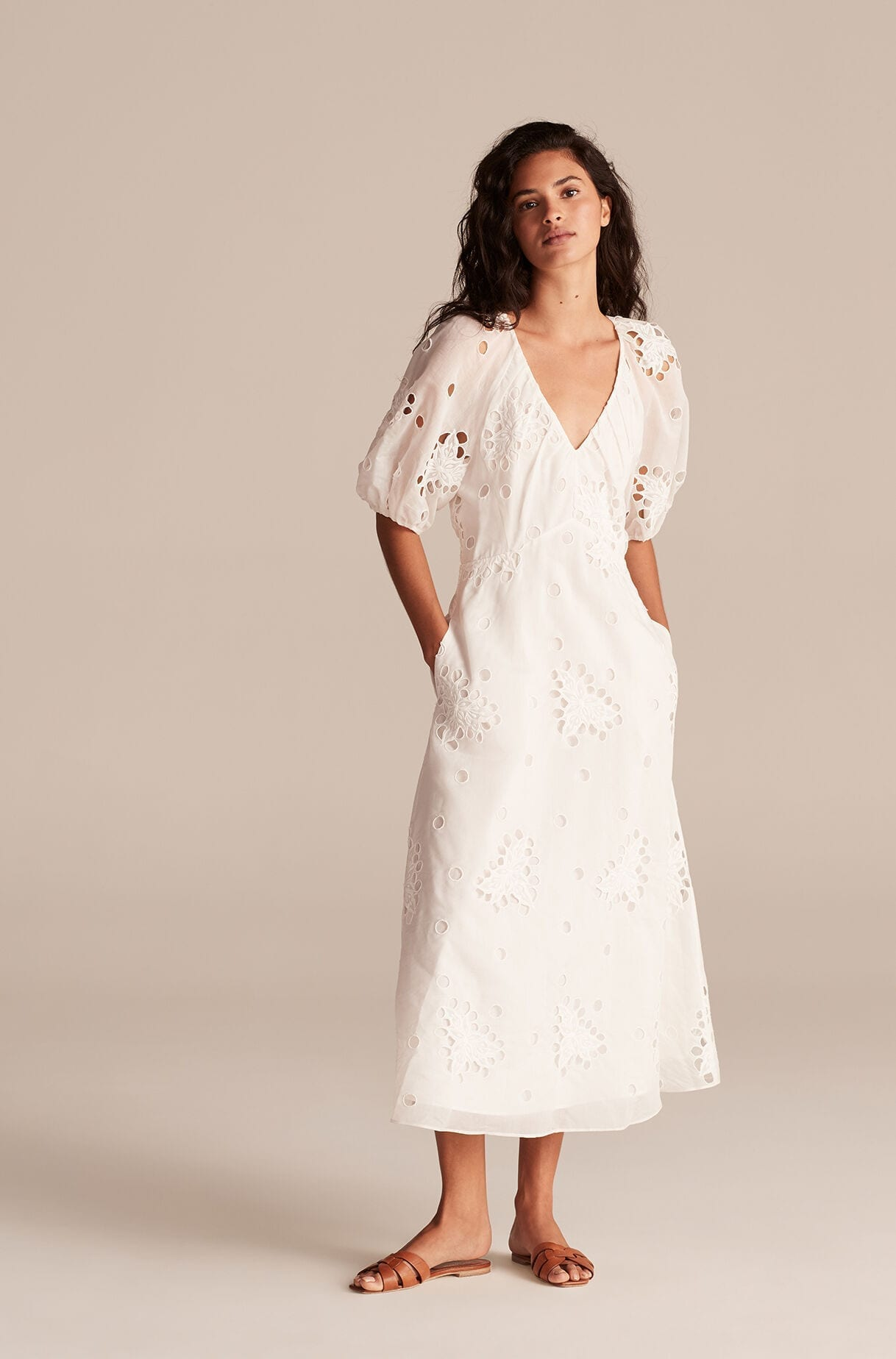 REBECCA TAYLOR Honeysuckle Eyelet Dress