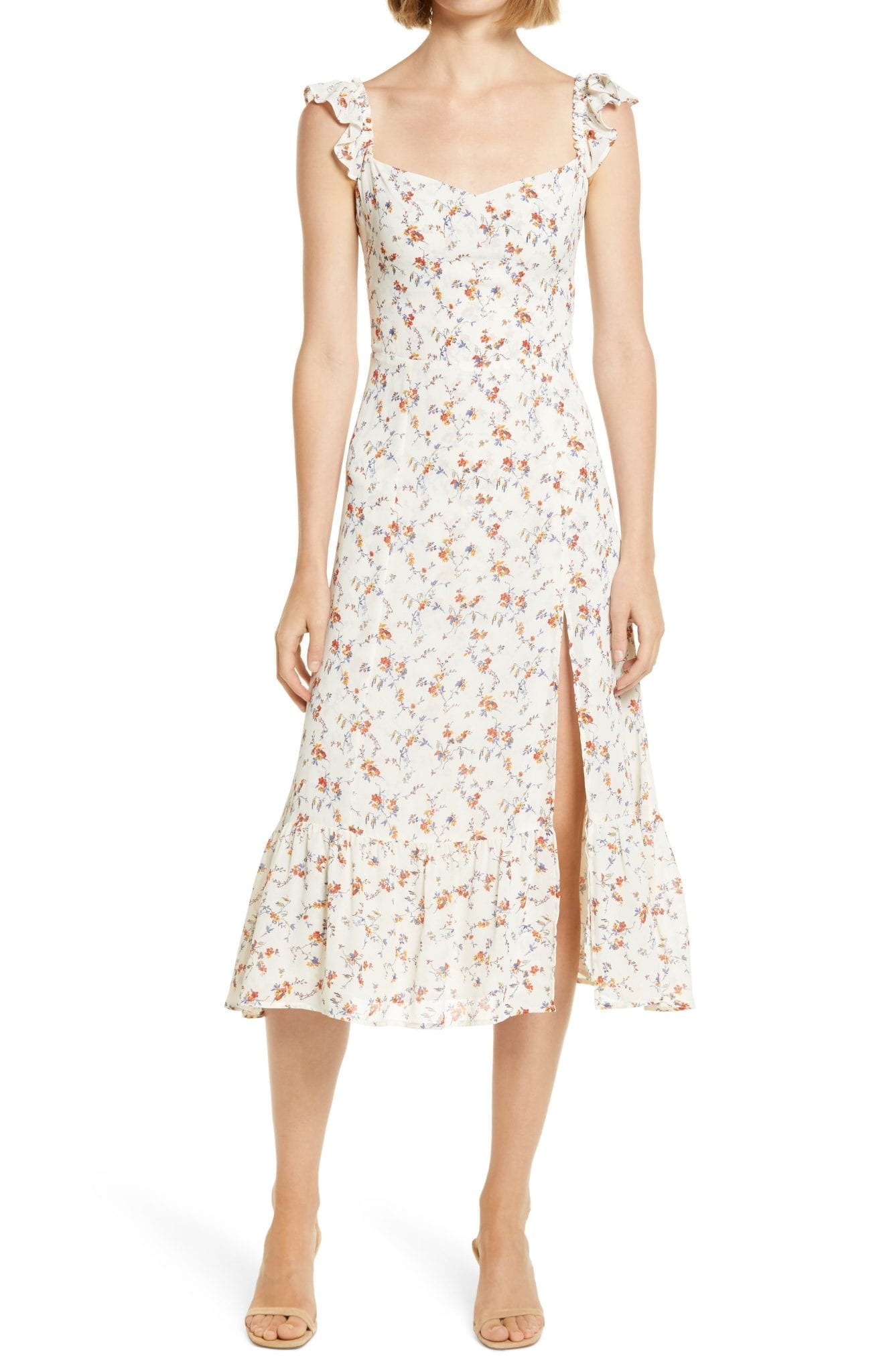 REFORMATION Bondi Floral Midi Dress