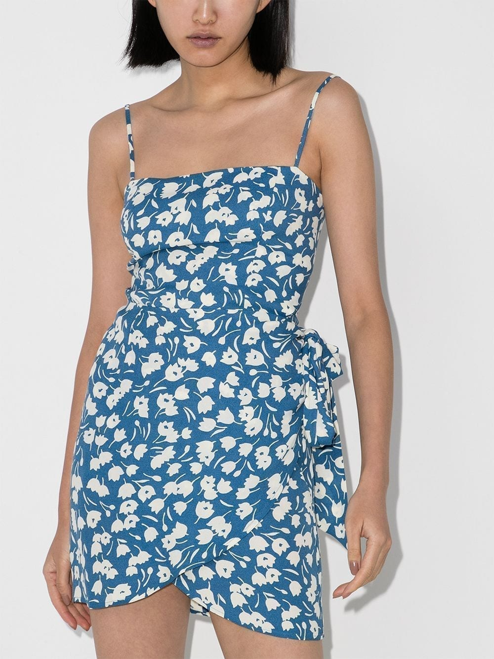 REFORMATION Canal Floral Print Mini Dress