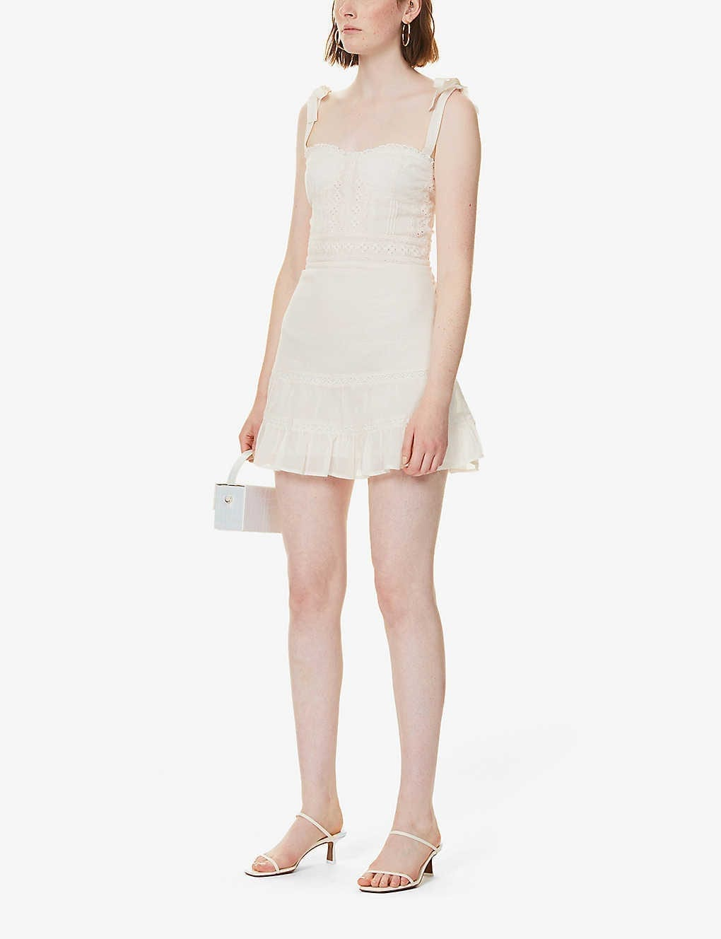 REFORMATION Maeve Organic Cotton Mini Dress