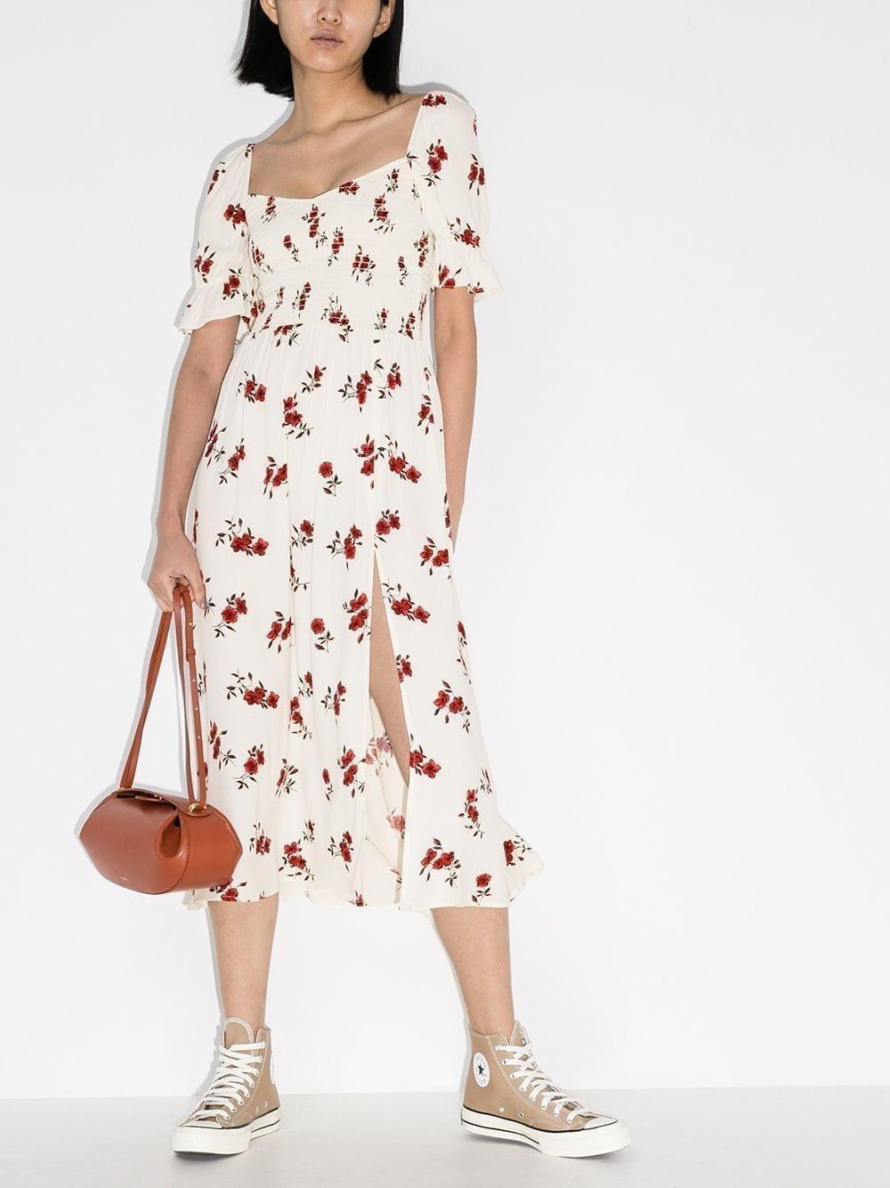 REFORMATION Parsley Floral Print Midi Dress