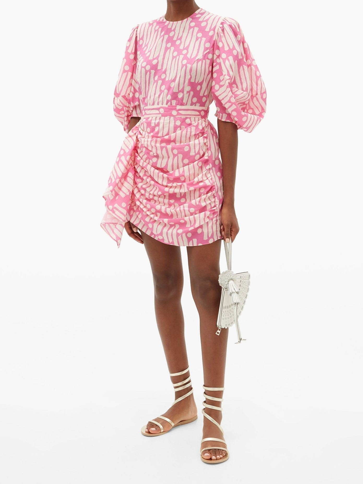 RHODE Pia Printed Cotton Mini Dress