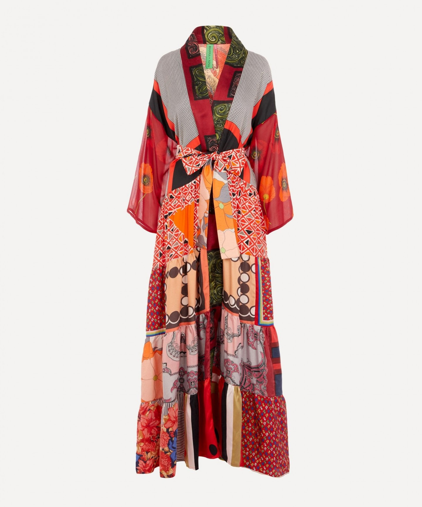 RIANNA & NINA One Of A Kind Volant Kimono Dress