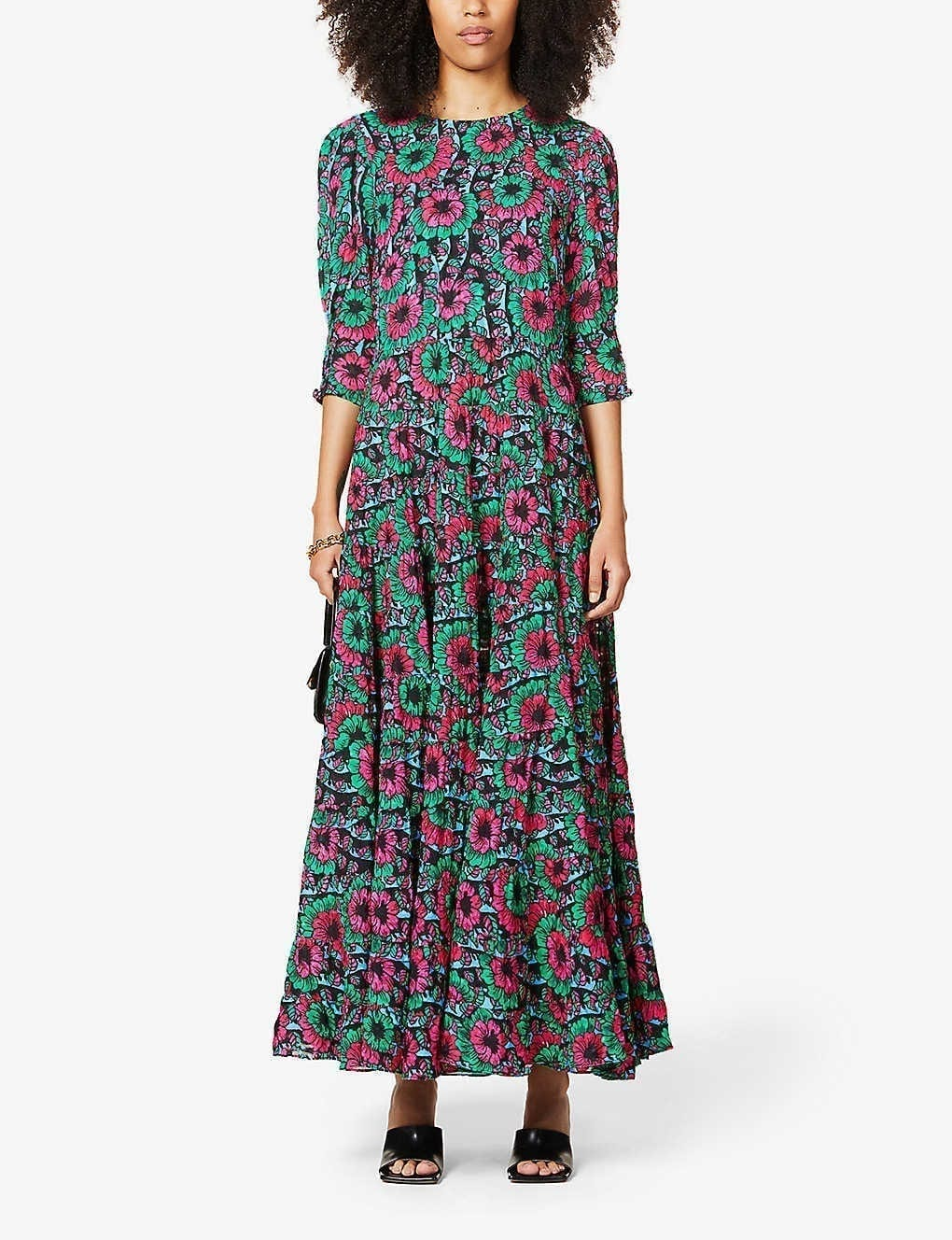 RIXO Kristen Floral-print Woven Maxi Dress