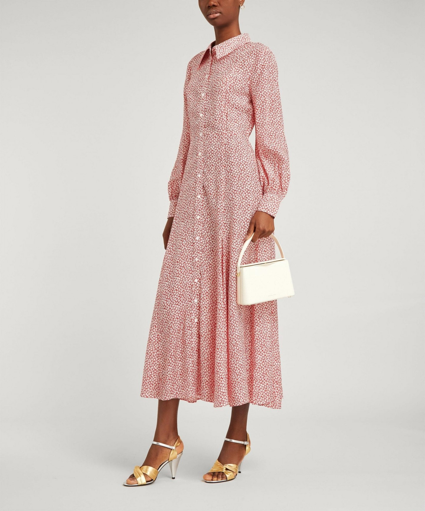 RIXO Maddison Button-Down Maxi Shirt-Dress