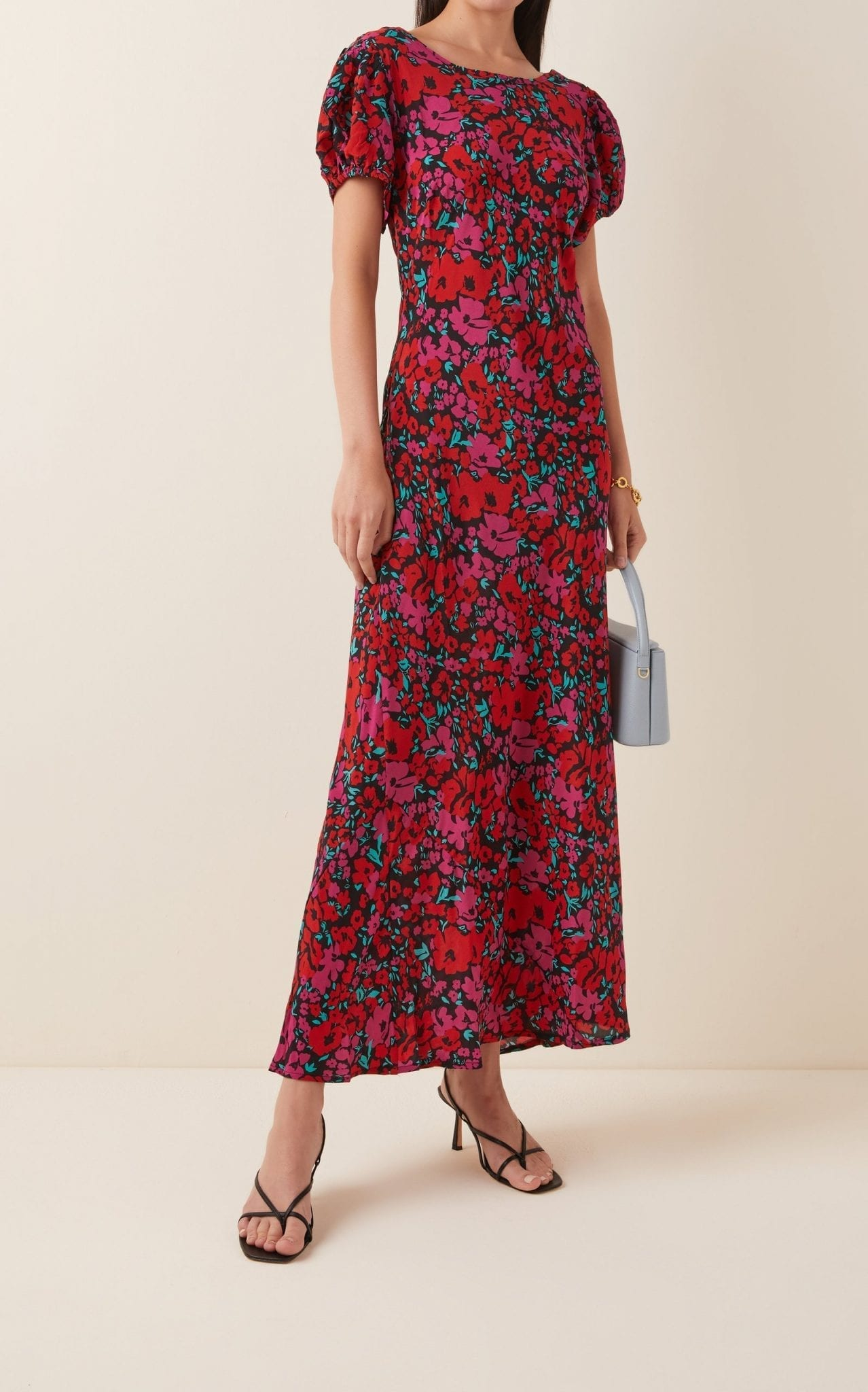 RIXO Reese Floral-Print Silk Dress