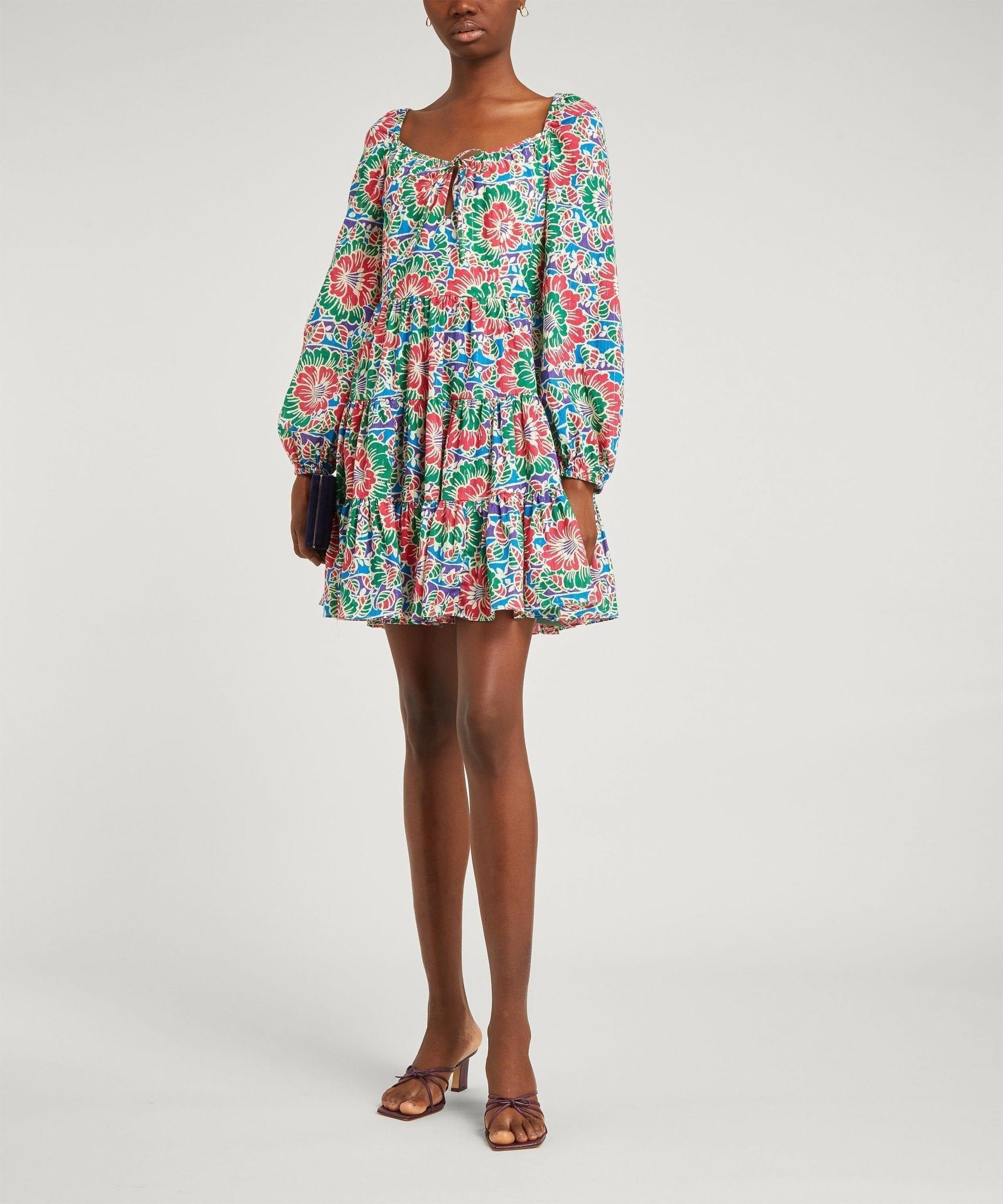 RIXO Roxy Long-Sleeve Mini-Dress