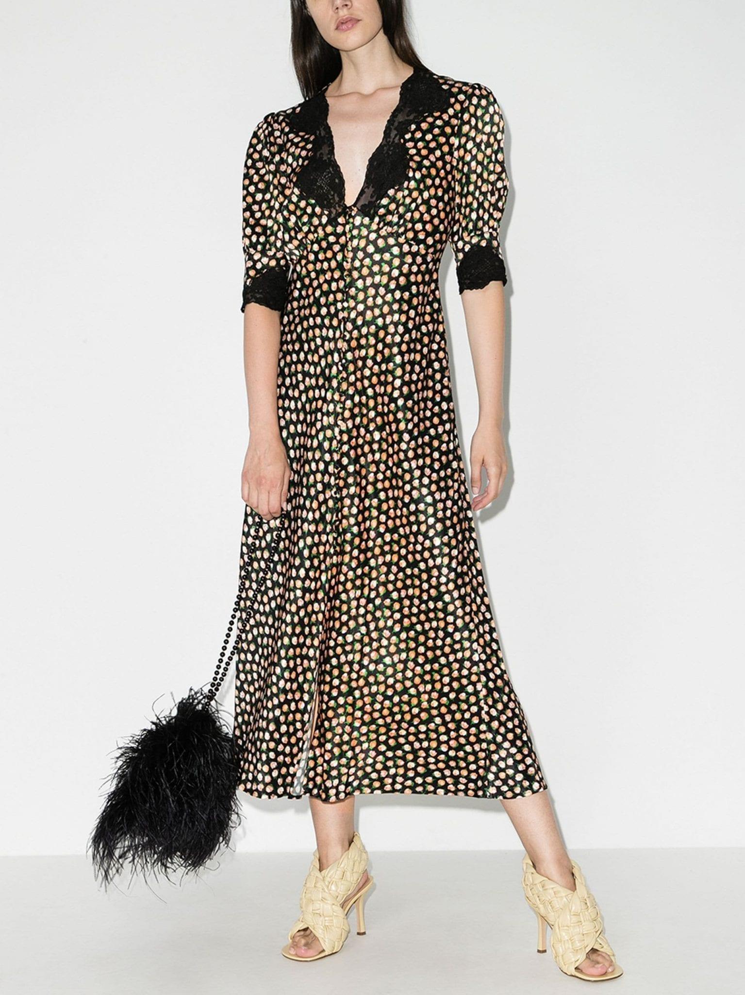 RIXO Simone Rose Print Dress