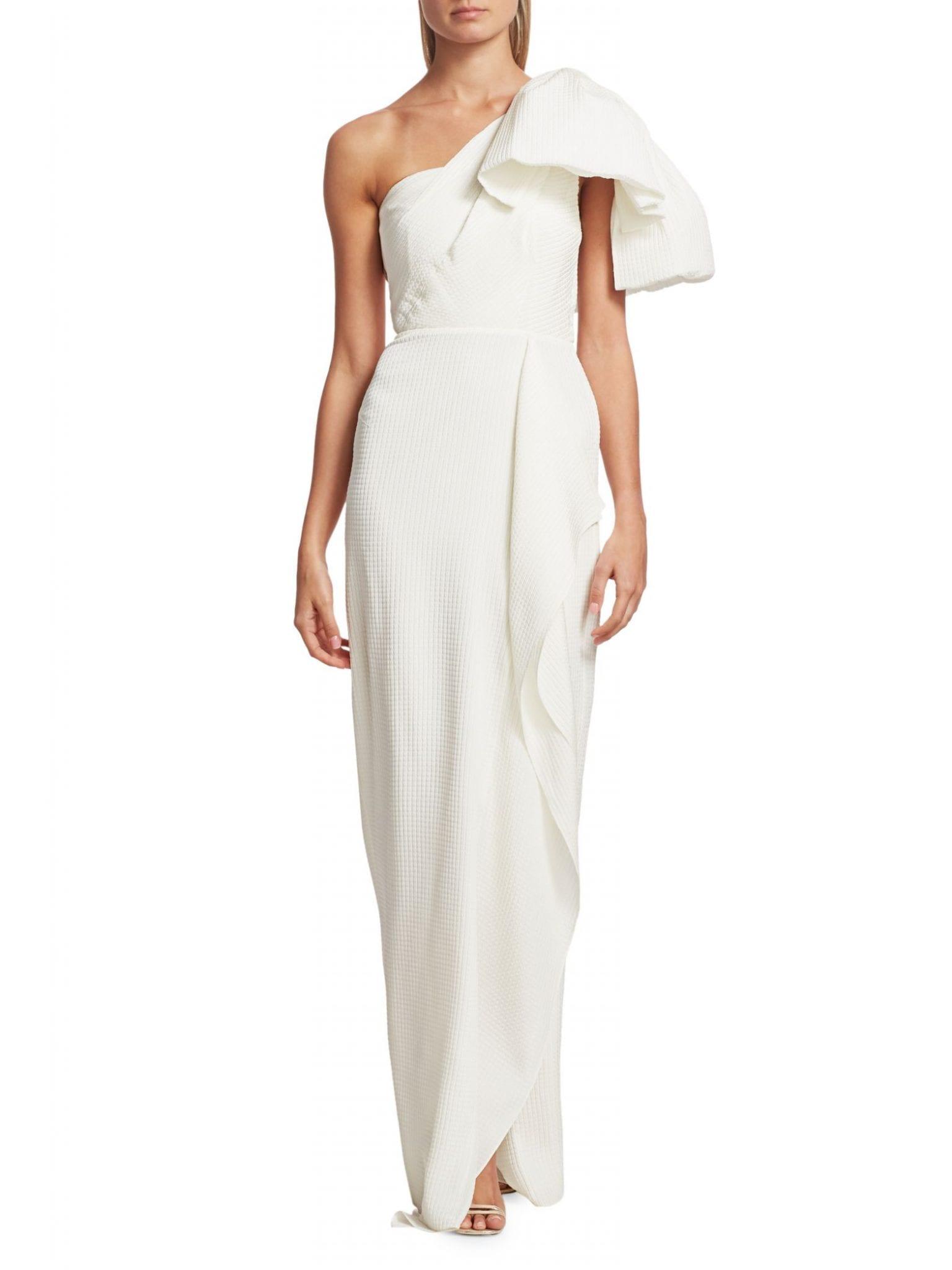 ROLAND MOURET Belhaven One-Shoulder Gown