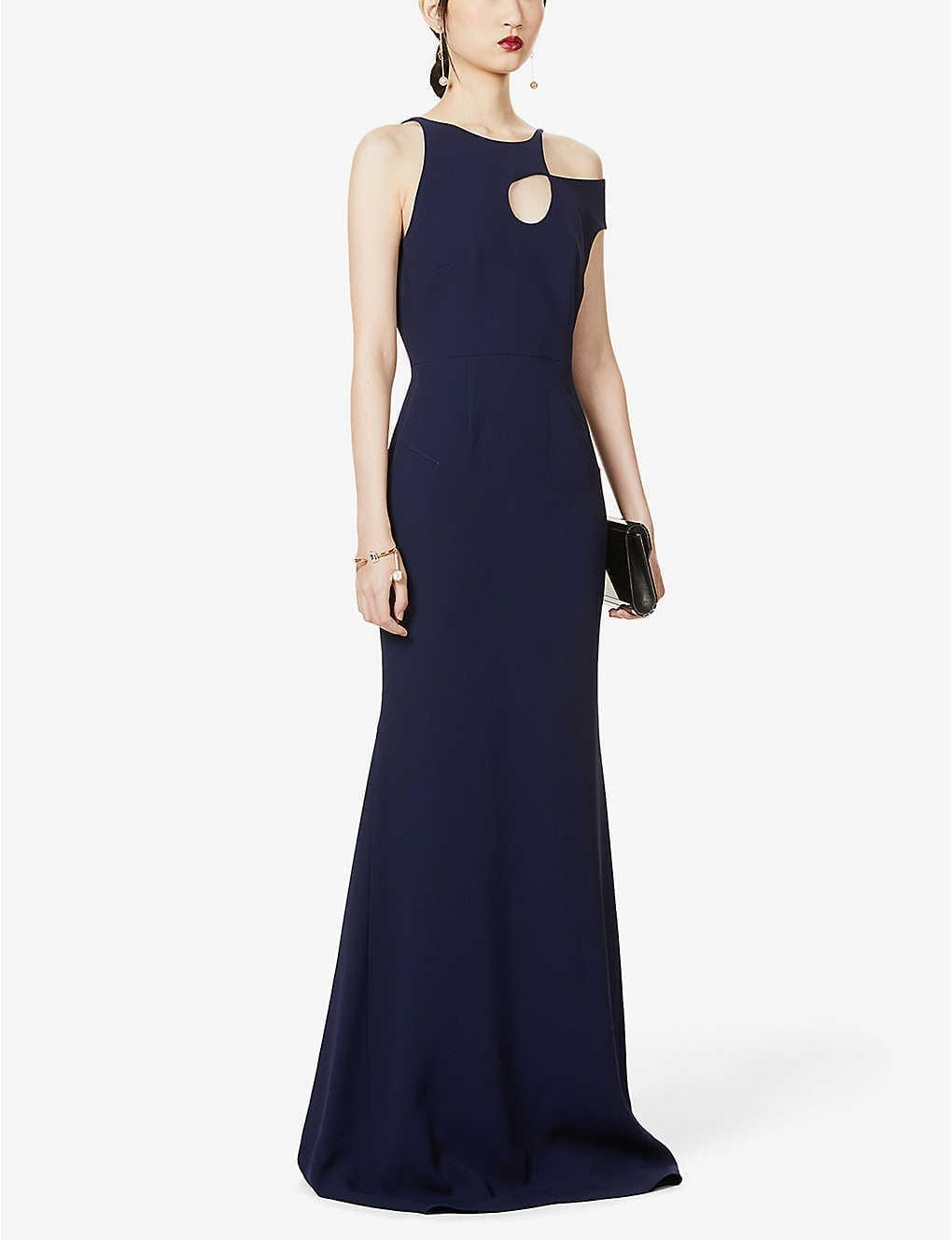 ROLAND MOURET Galata Cut-out Crepe Gown