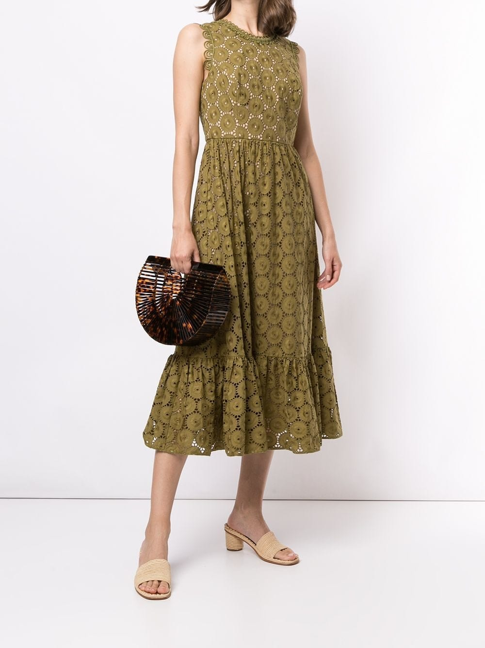 SACHIN & BABI Magdelaine Lace Midi Dress
