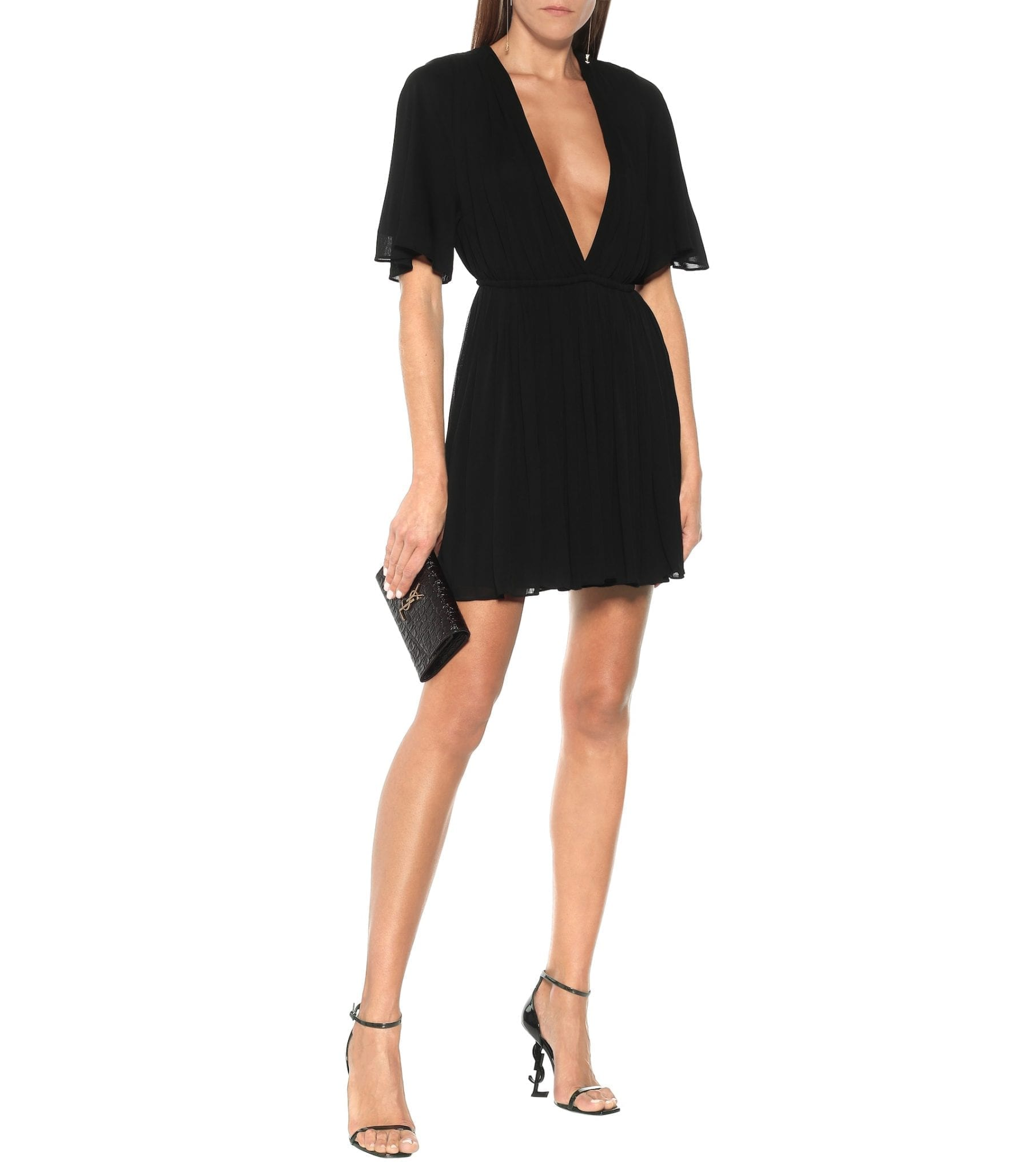 SAINT LAURENT Crêpe Jersey Mini Dress