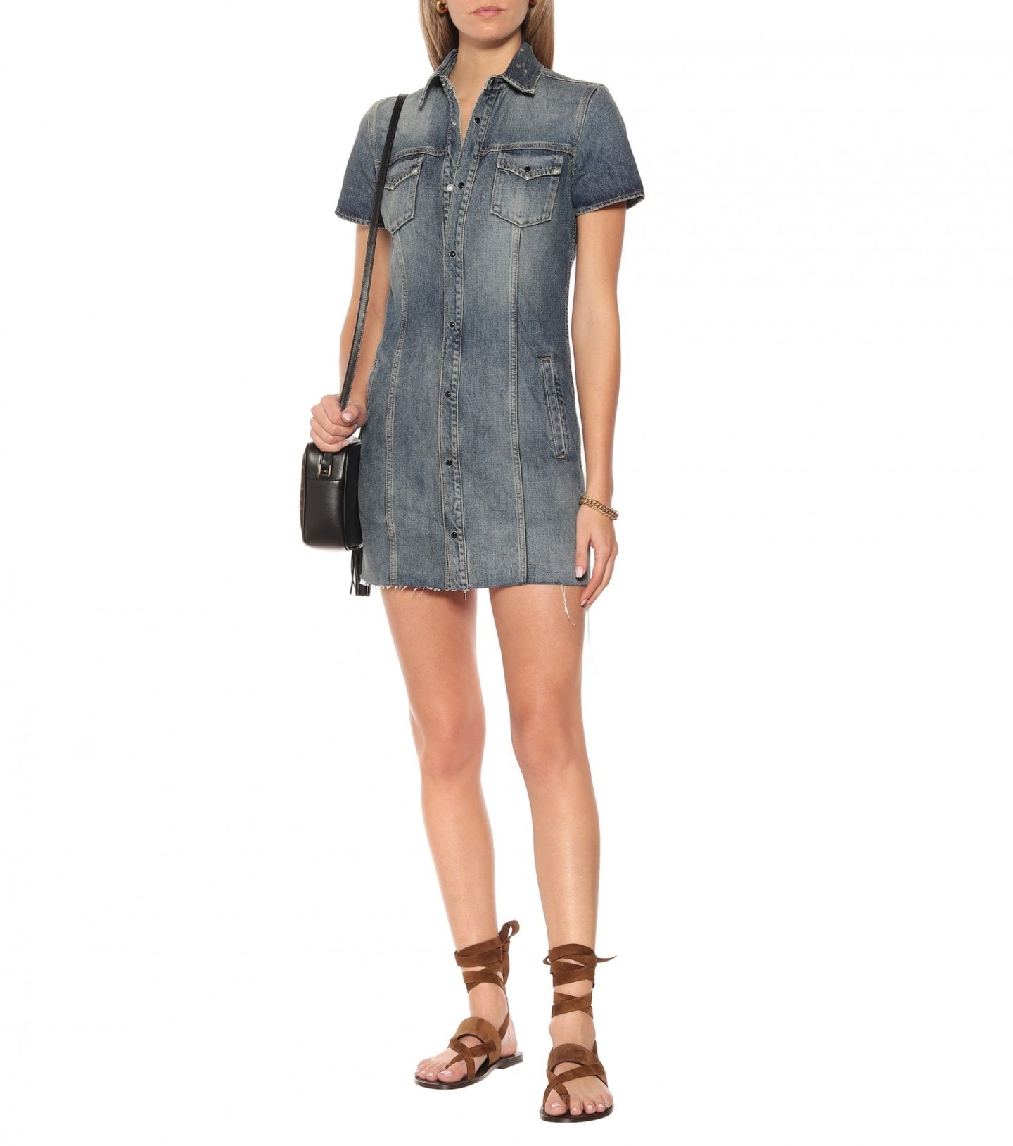 SAINT LAURENT Denim Mini Dress
