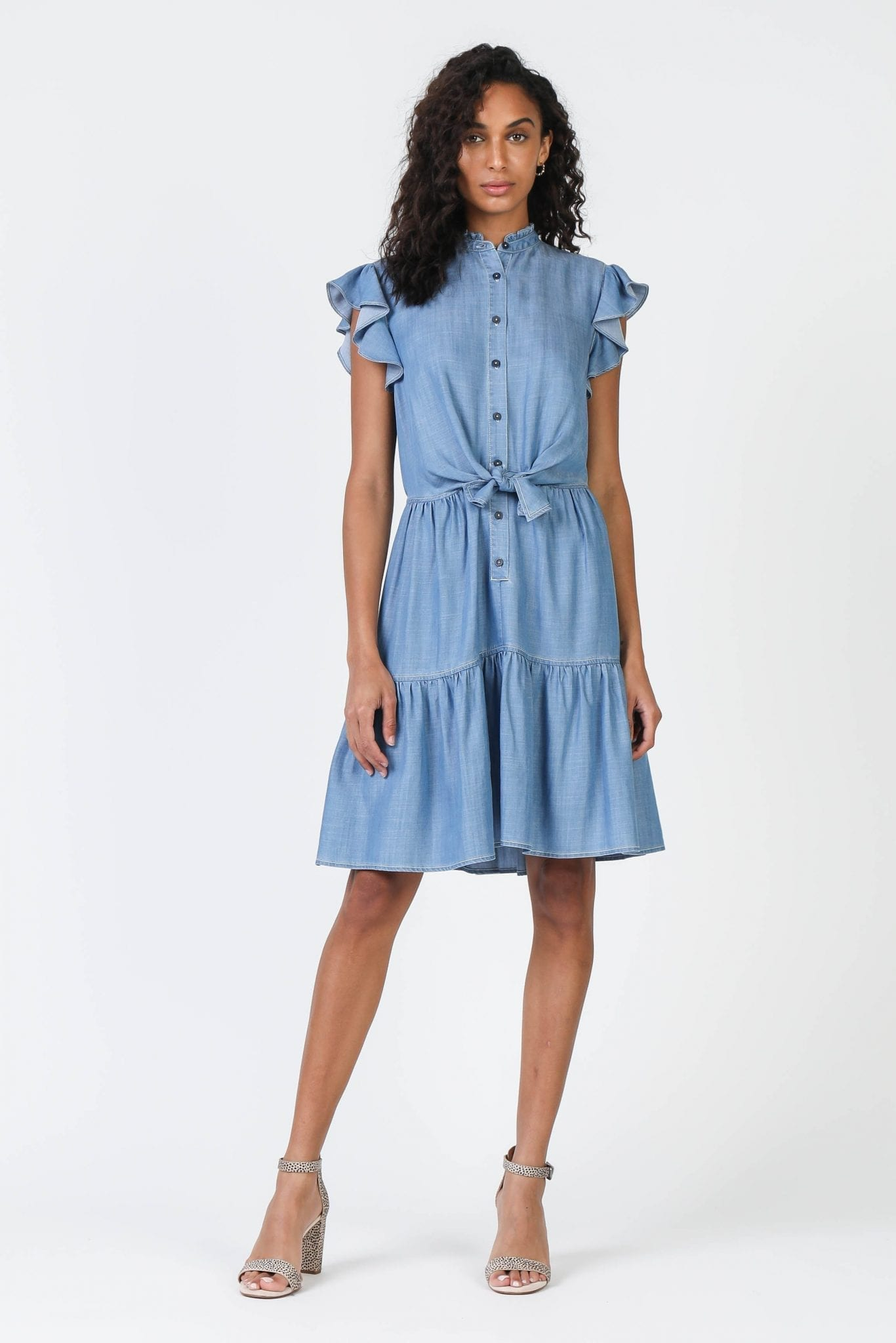 SHOPCURRENTAIR Chambray Button Down Dress