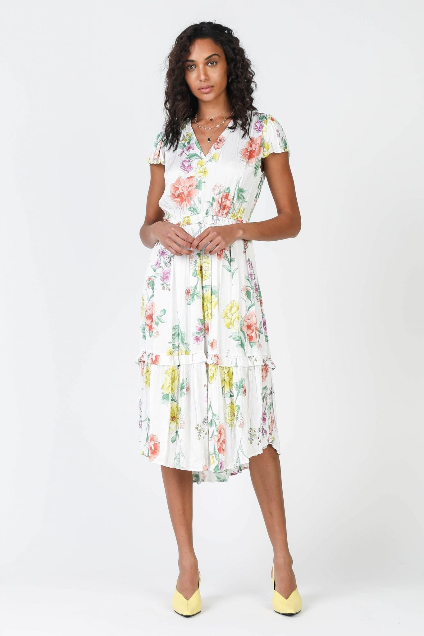 SHOPCURRENTAIR Crinkle Poppy Floral Dress