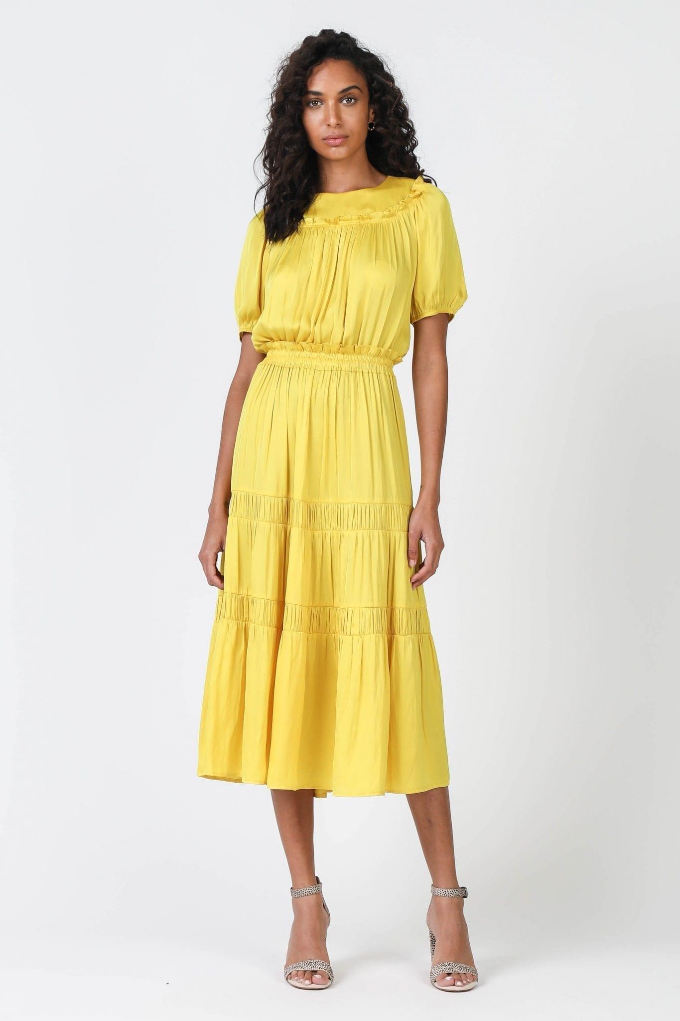 SHOPCURRENTAIR Round Neck Midi Dress