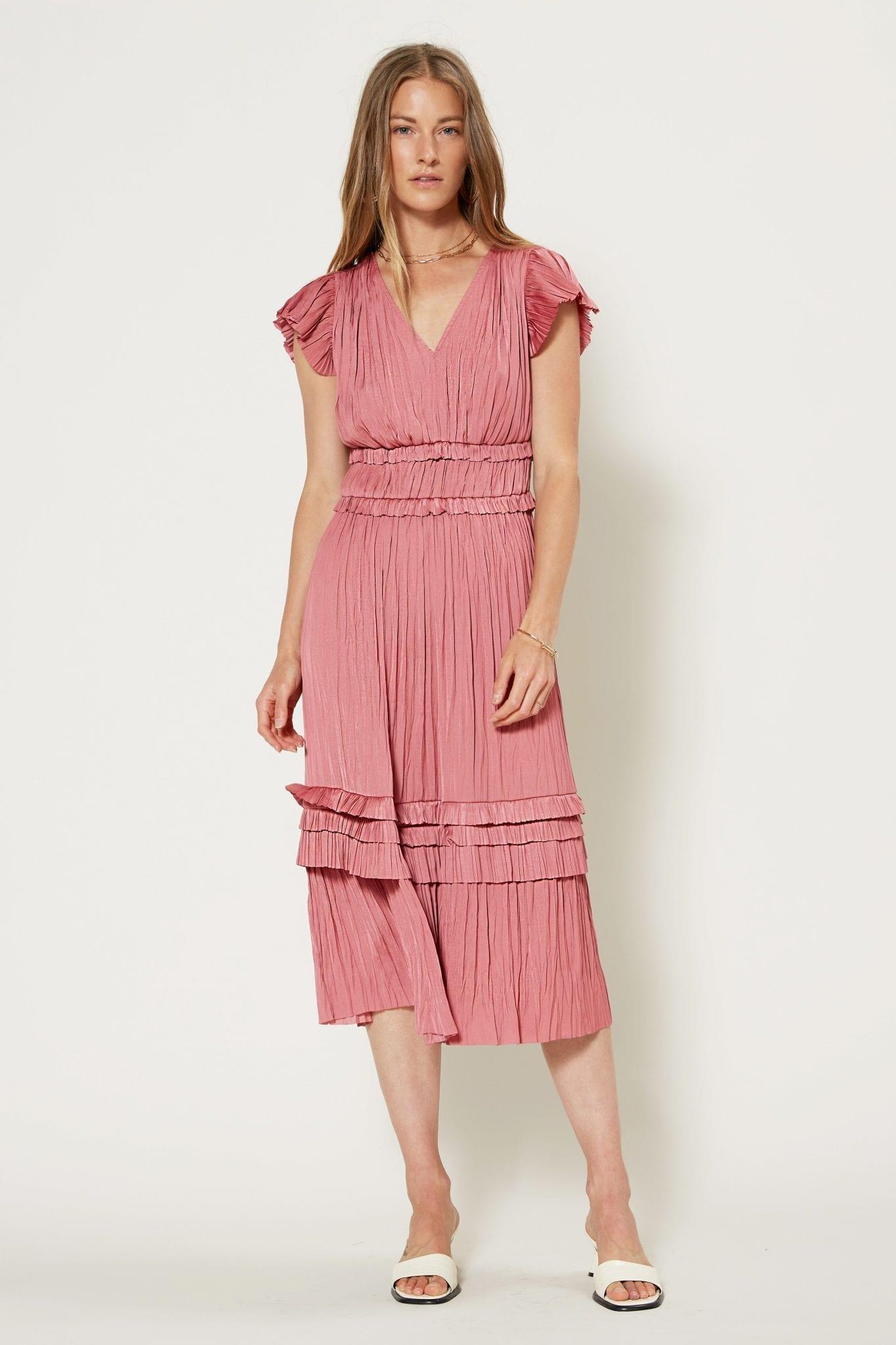 SHOPCURRENTAIR Sereia Pleated Midi Dress