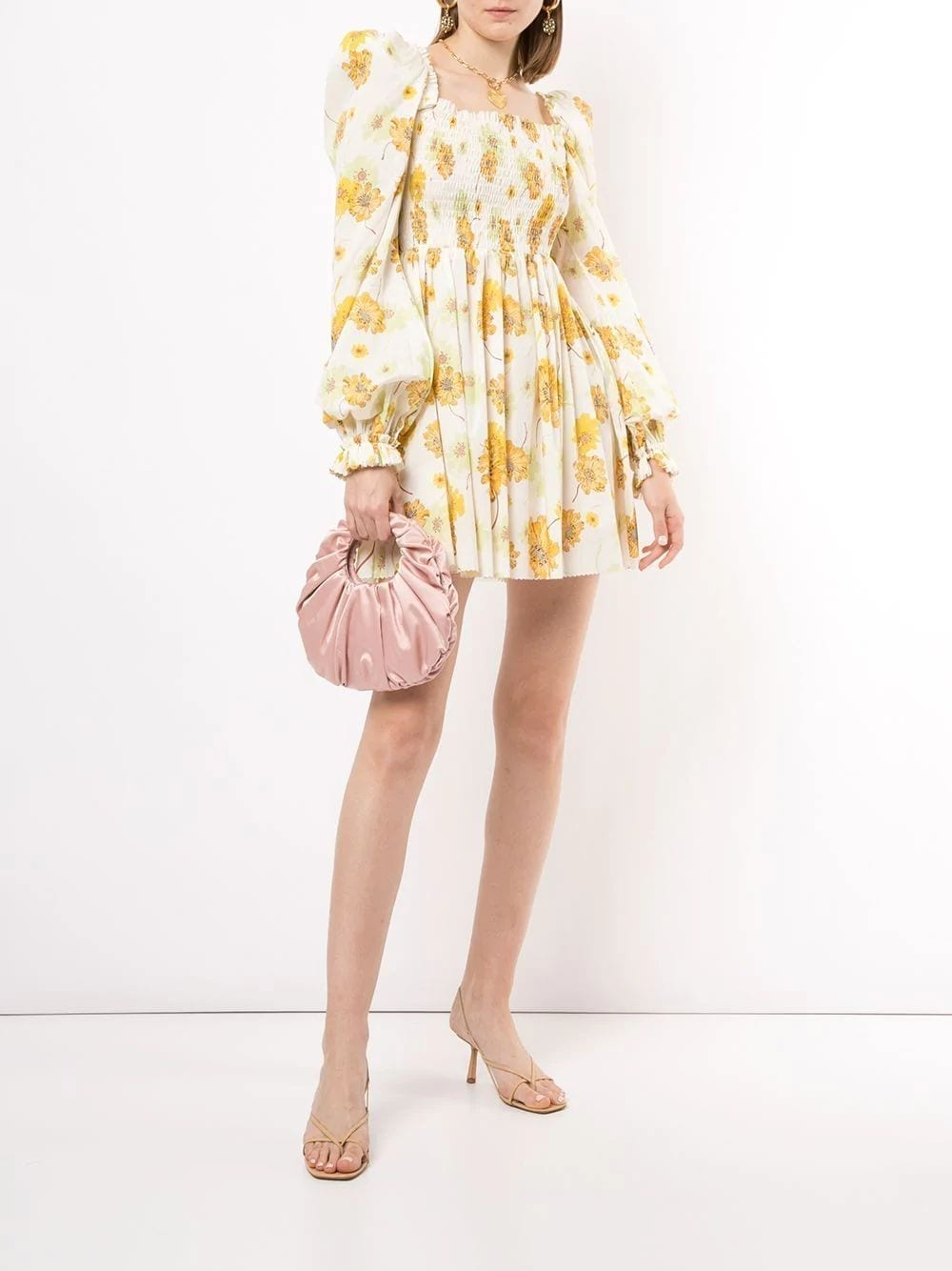 THE VAMPIRE'S WIFE Yellow Floral Print Dress