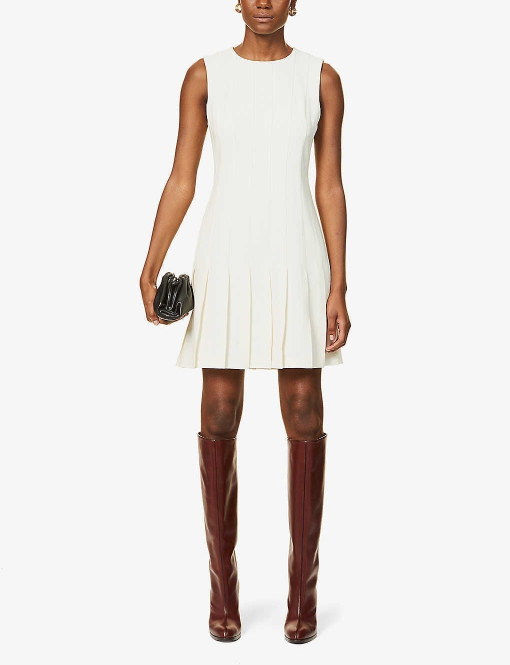 THEORY Sleeveless Woven Mini Dress