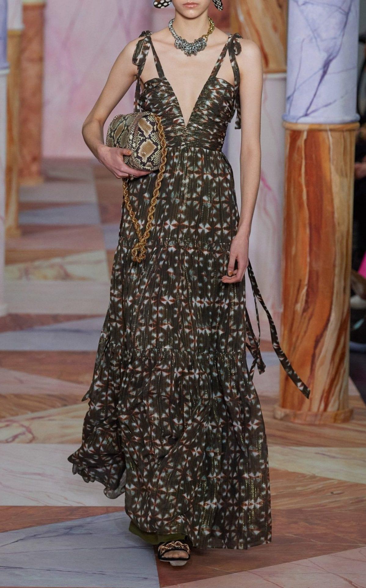 ULLA JOHNSON Lirra Printed Silk-Blend Dress