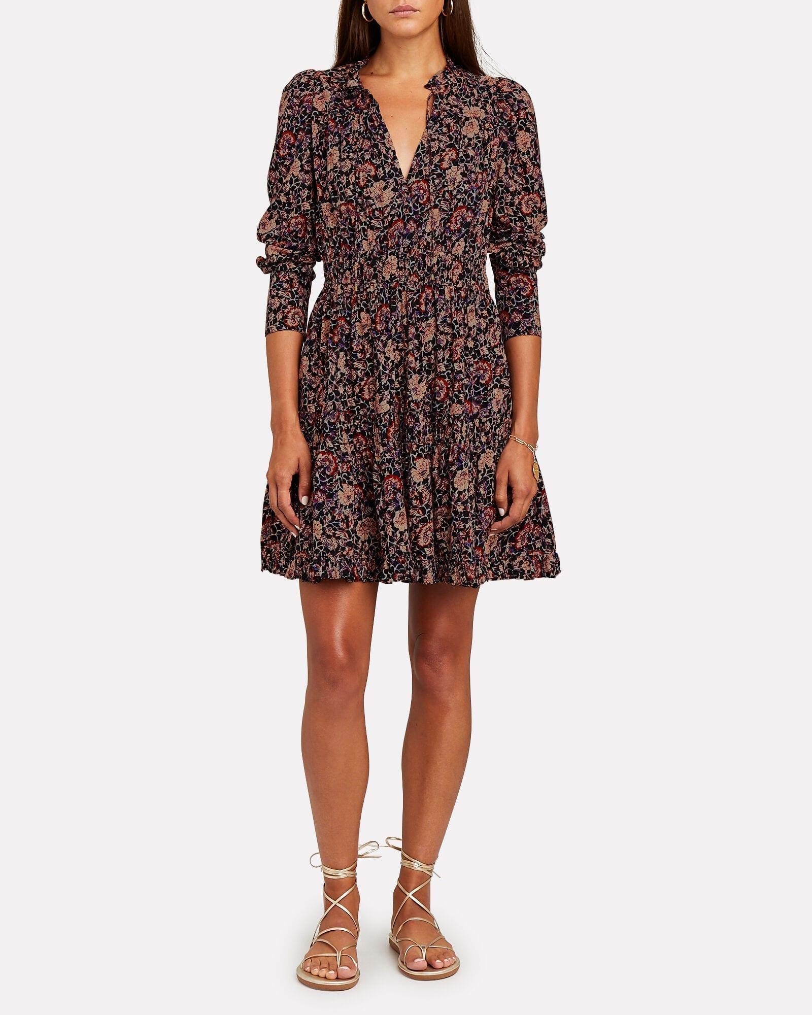 ULLA JOHNSON Liv Floral Mini Dress