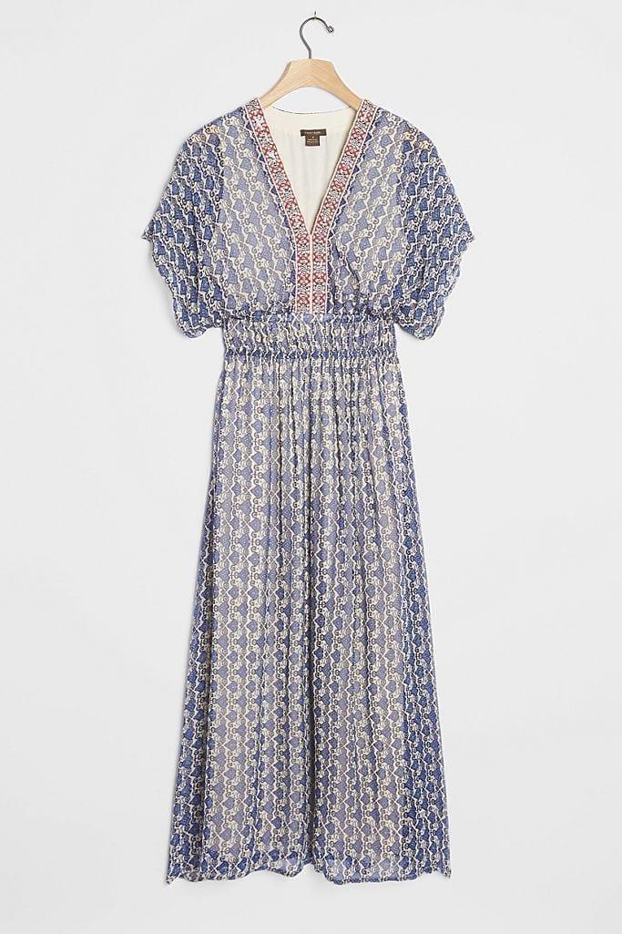 VINEET BAHL Oda Embroidered Maxi Dress