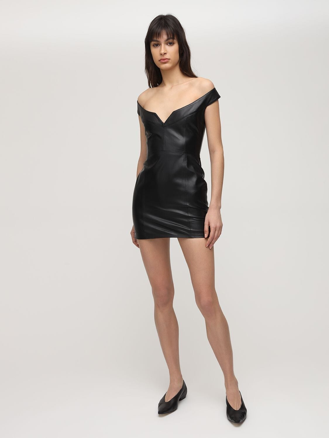 ZEYNEP ARCAY Princess Leather Mini Dress