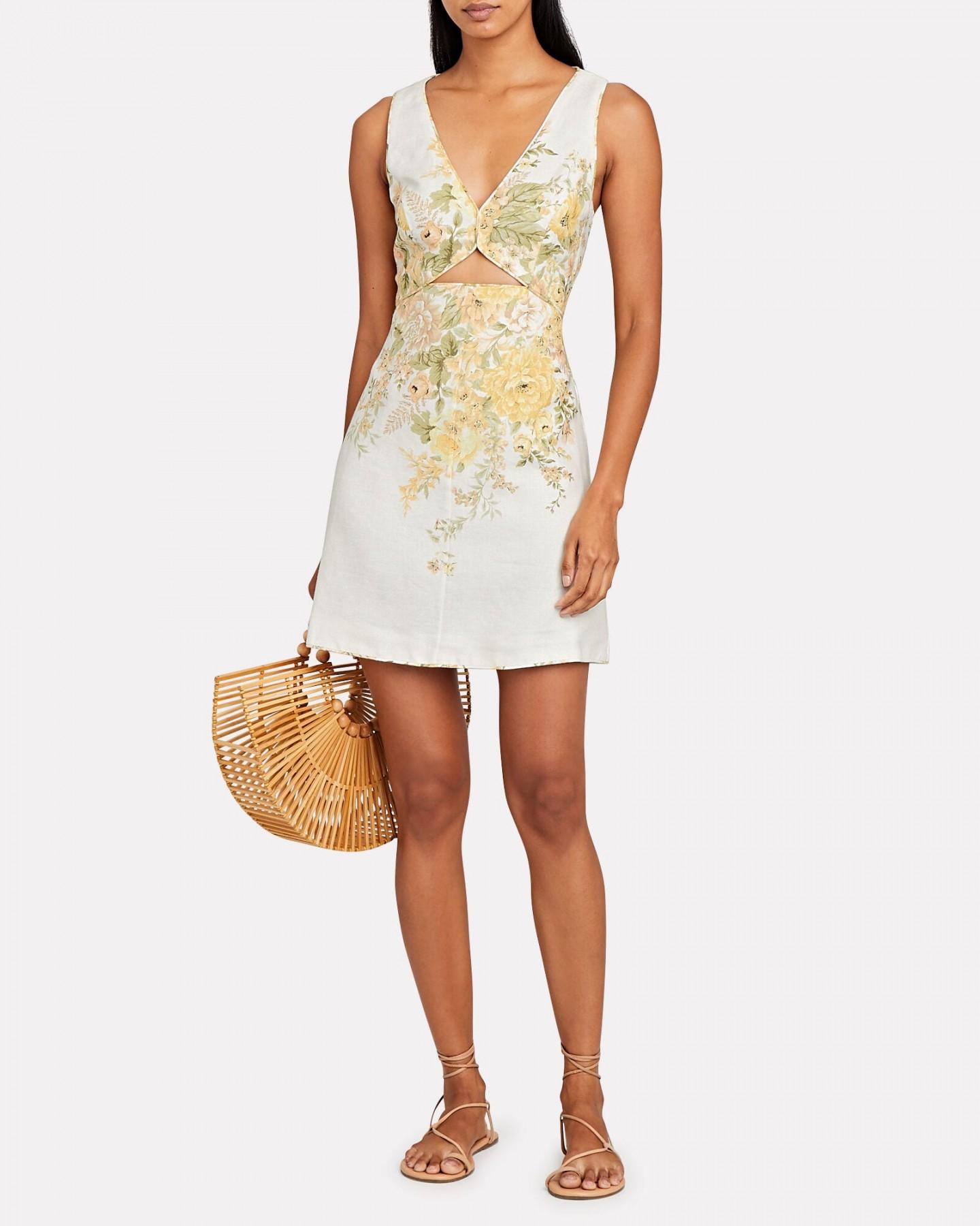 ZIMMERMANN Amelie Cut-Out Mini Dress