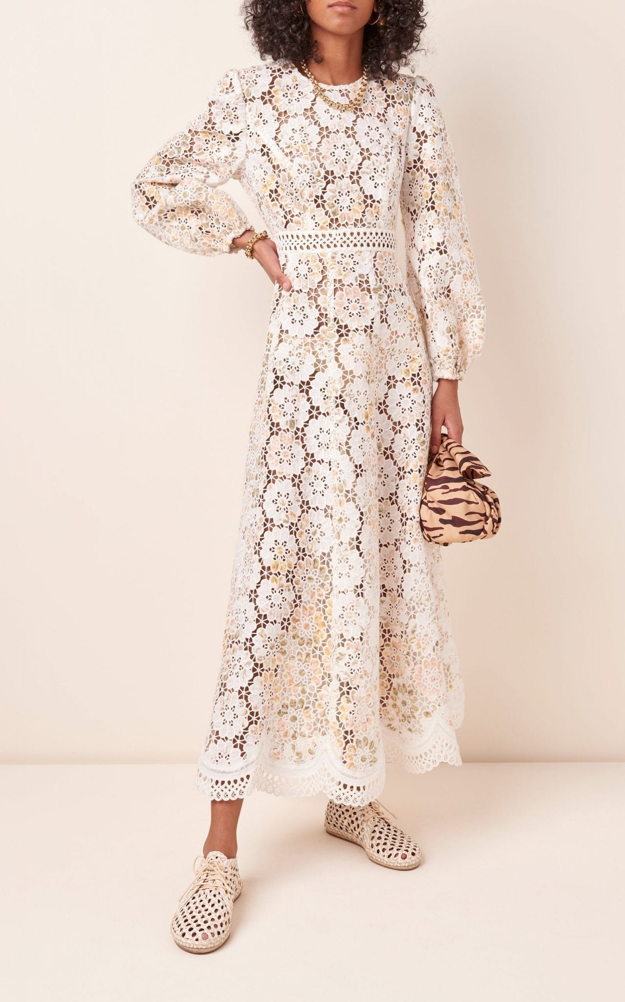 ZIMMERMANN Amelie Embroidered Floral Linen Maxi Dress