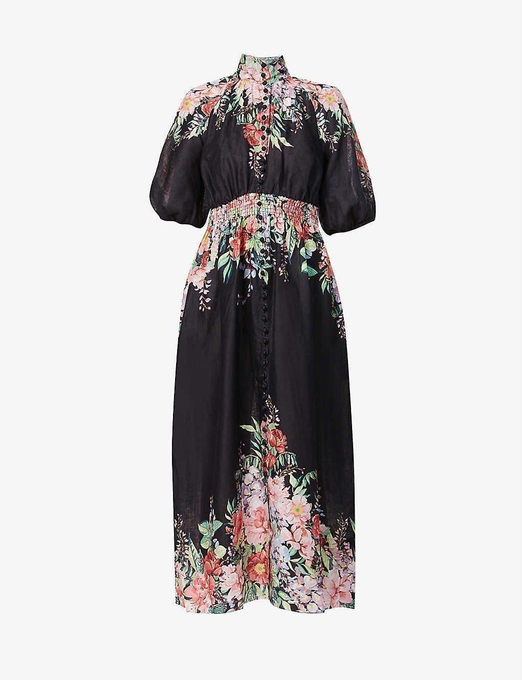 ZIMMERMANN Bellitude Floral-print Linen Maxi Dress