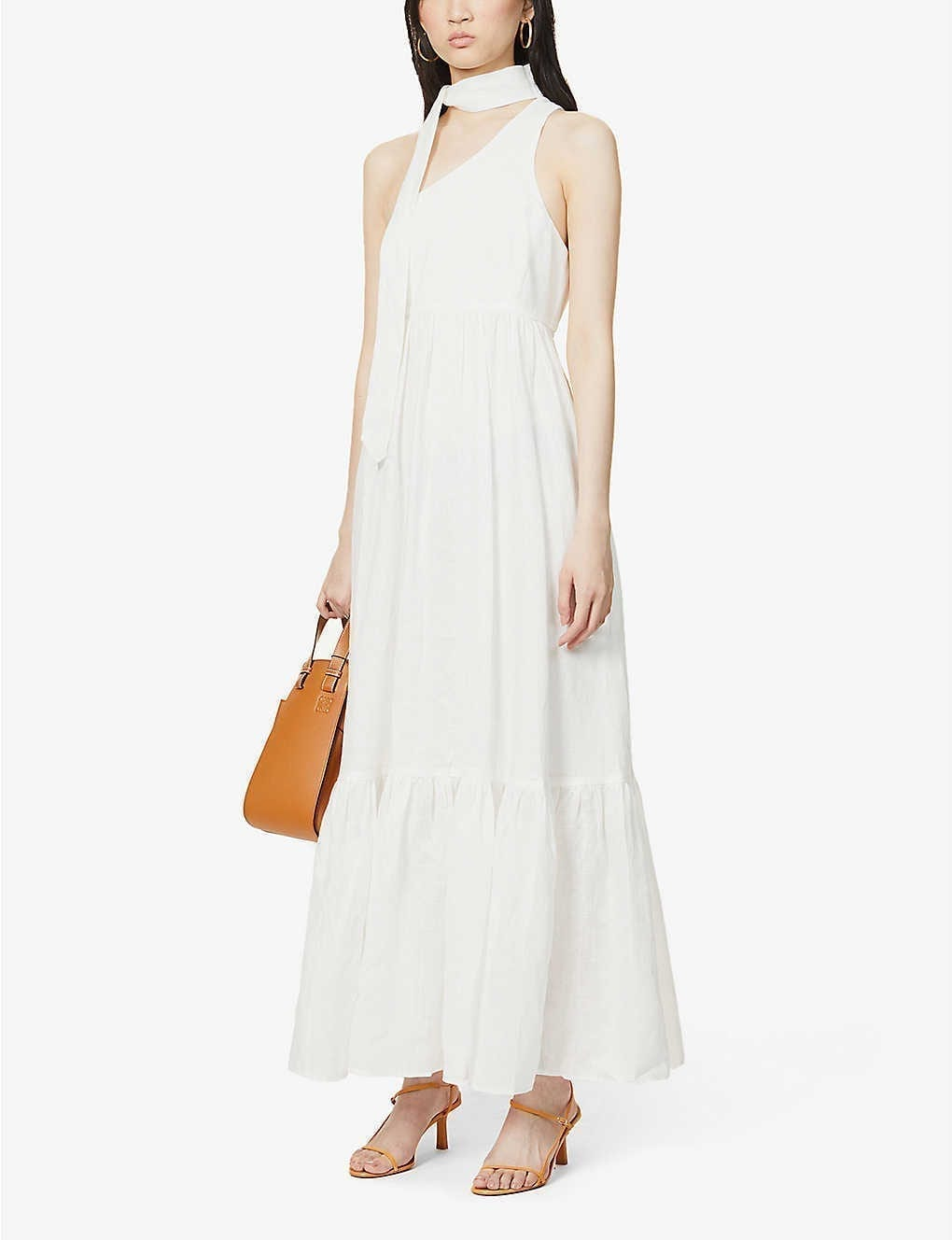 ZIMMERMANN Juliette Asymmetric Linen Maxi Dress