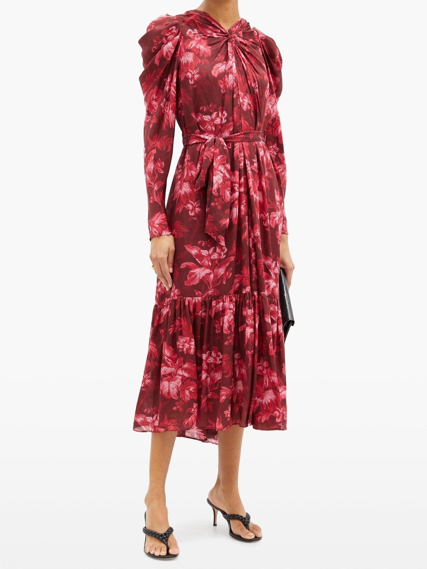 ZIMMERMANN Ladybeetle Floral-print Crepe Midi Dress