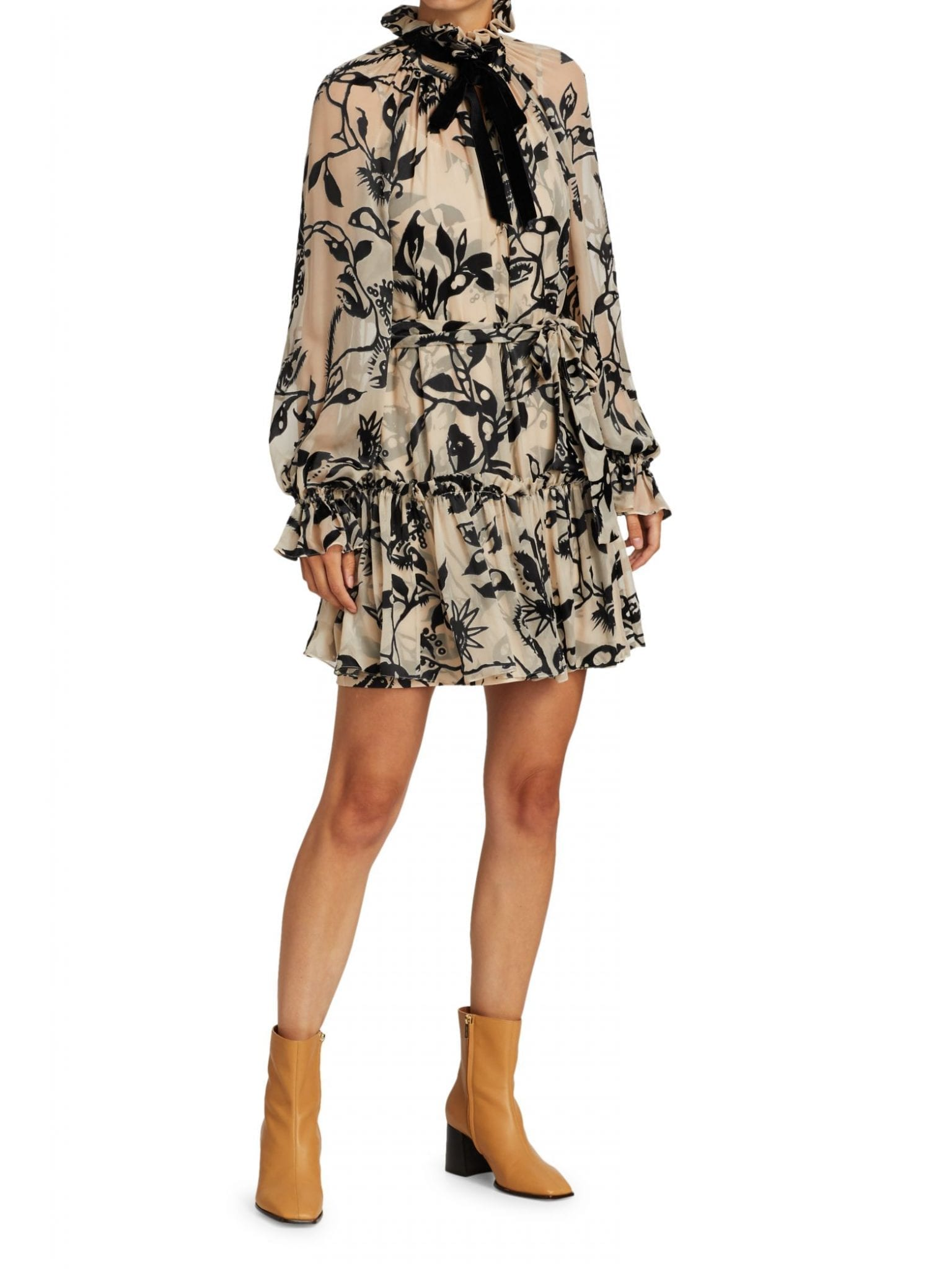 ZIMMERMANN Ladybeetle Ruffled Mini Dress
